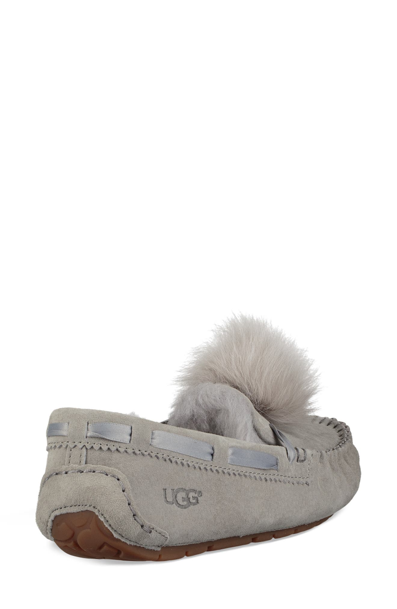 Dakota Water Resistant Genuine Shearling Pompom Slipper,                             Alternate thumbnail 2, color,                             SEAL