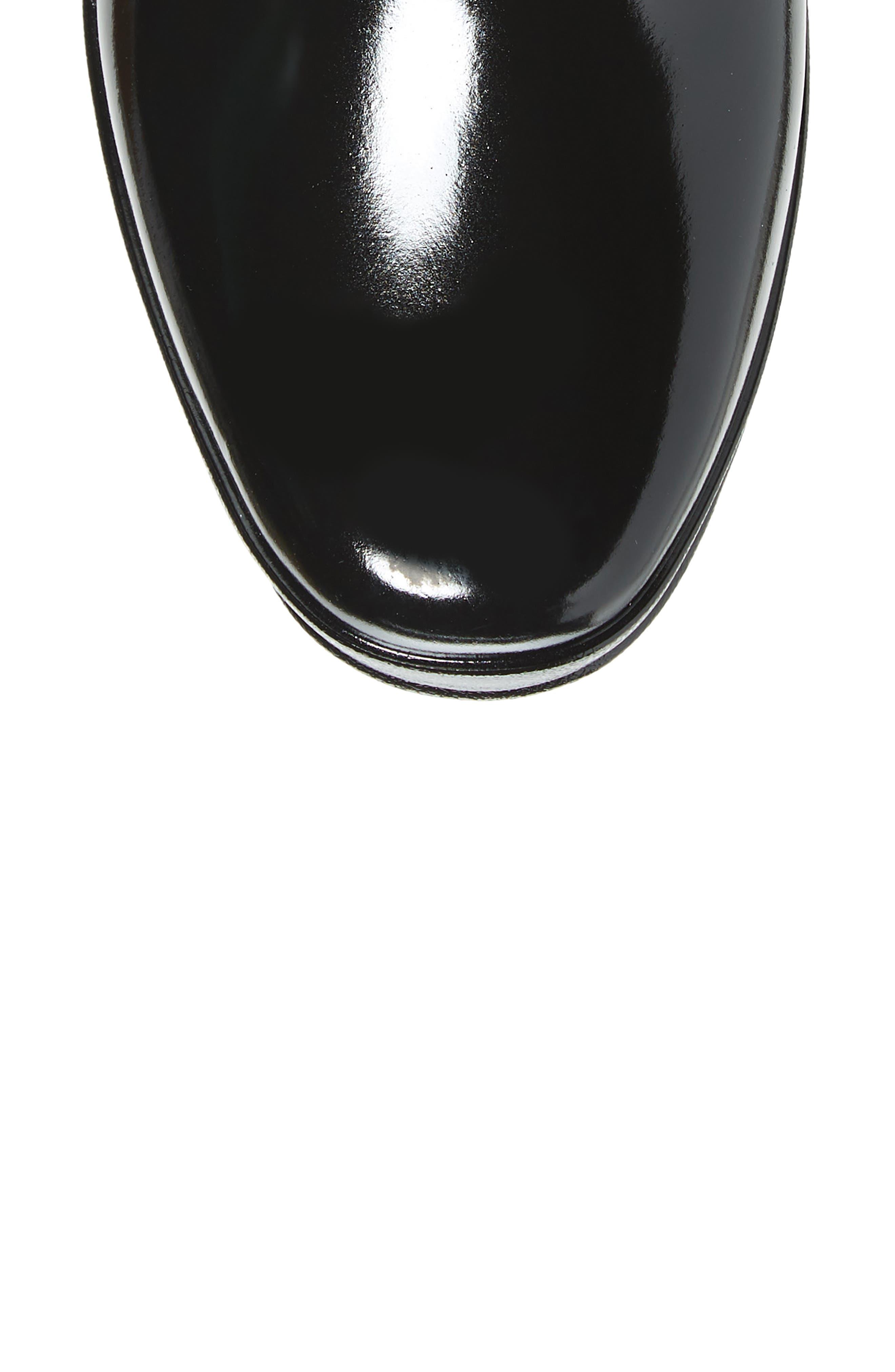 Refined Knee High Waterproof Rain Boot,                             Alternate thumbnail 5, color,                             BLACK
