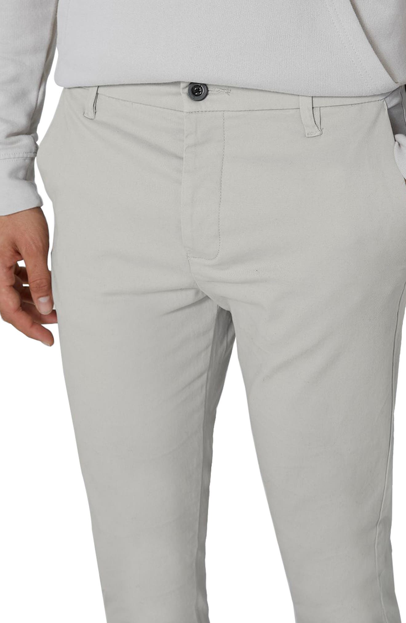 Stretch Skinny Fit Chinos,                             Alternate thumbnail 3, color,                             020