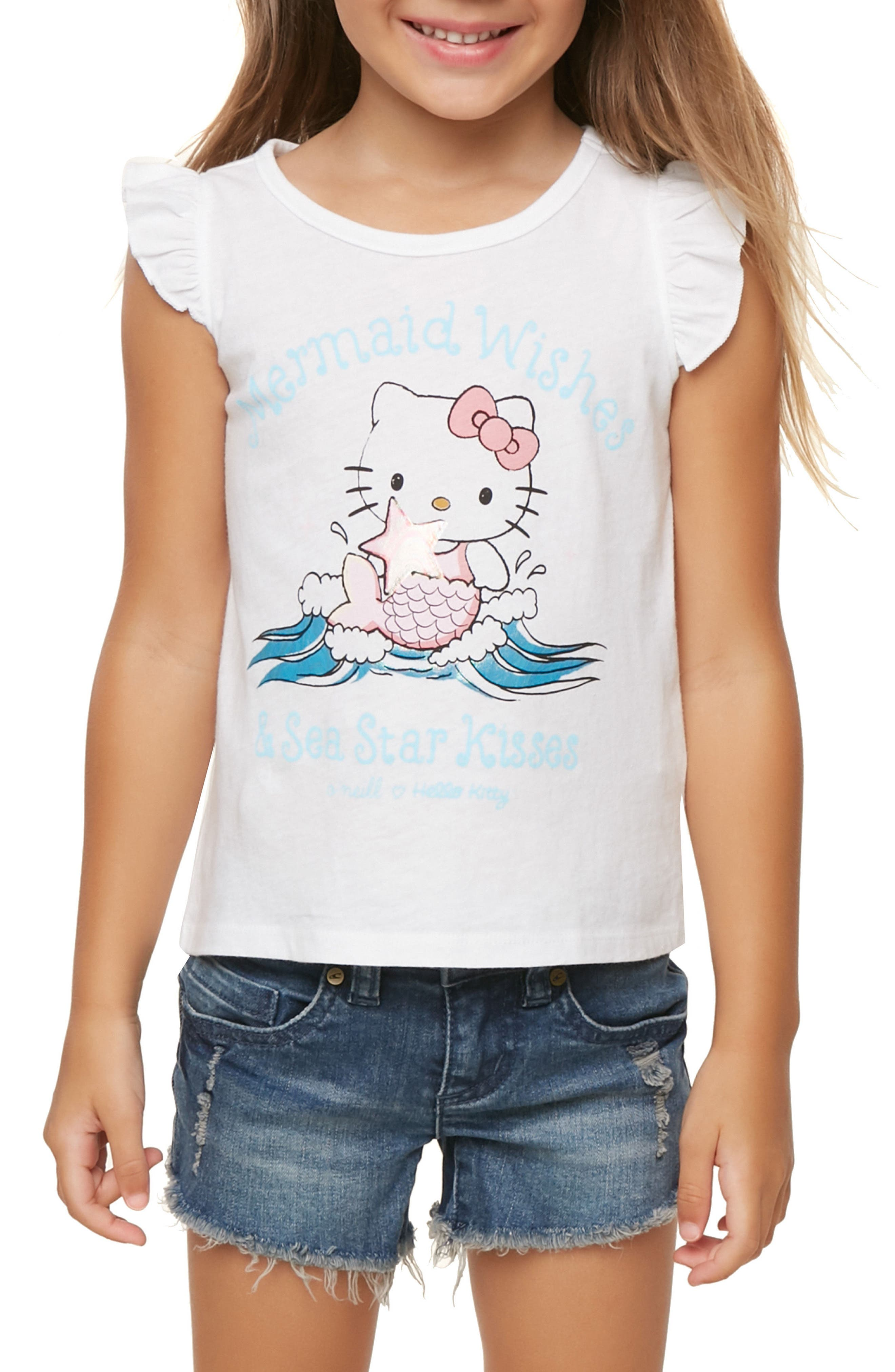 Mermaid Wishes Flutter Sleeve Tank,                             Alternate thumbnail 2, color,                             100