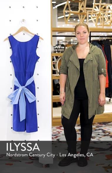 Two-Tone Tie Waist Sheath Dress, sales video thumbnail