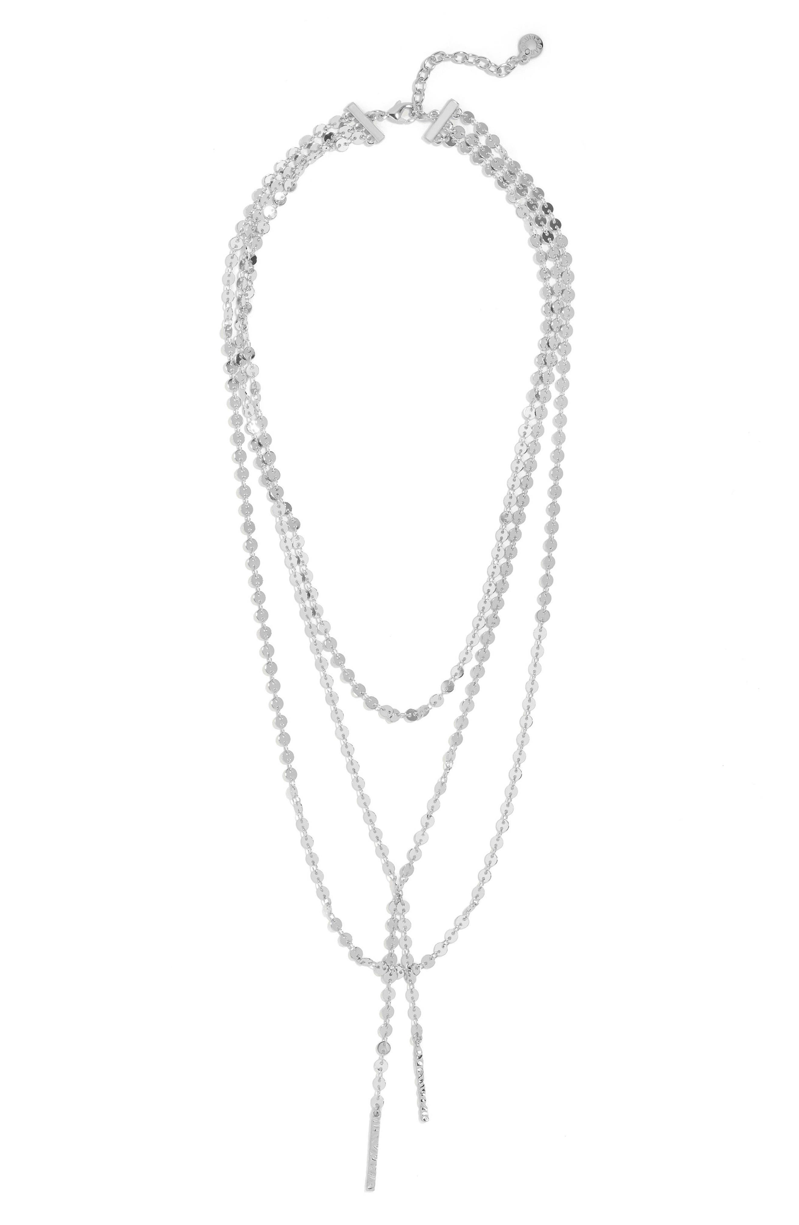 BAUBLEBAR,                             Amber Layered Chain Y-Necklace,                             Alternate thumbnail 2, color,                             SILVER
