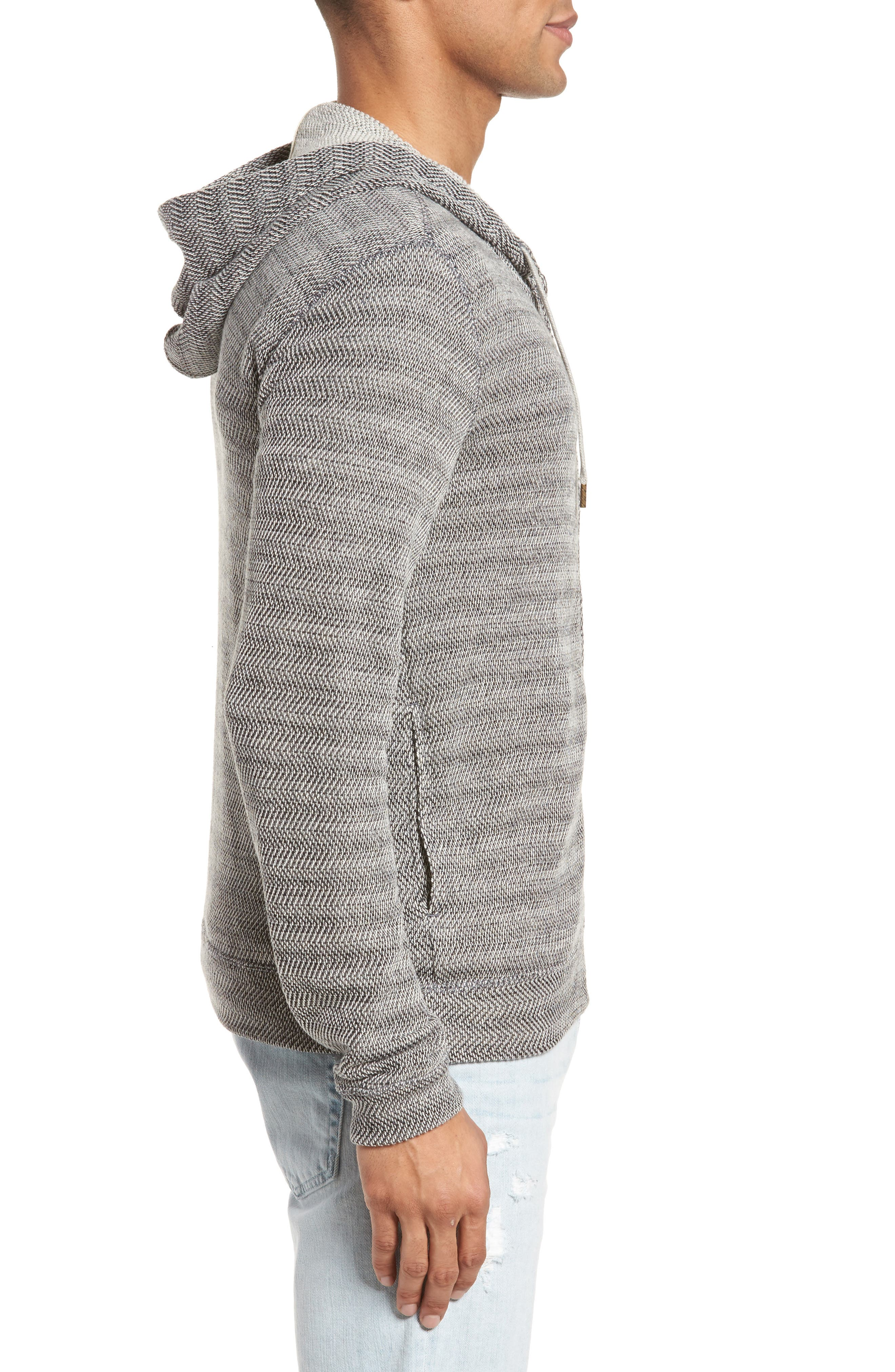 Herringbone Hoodie,                             Alternate thumbnail 3, color,                             010