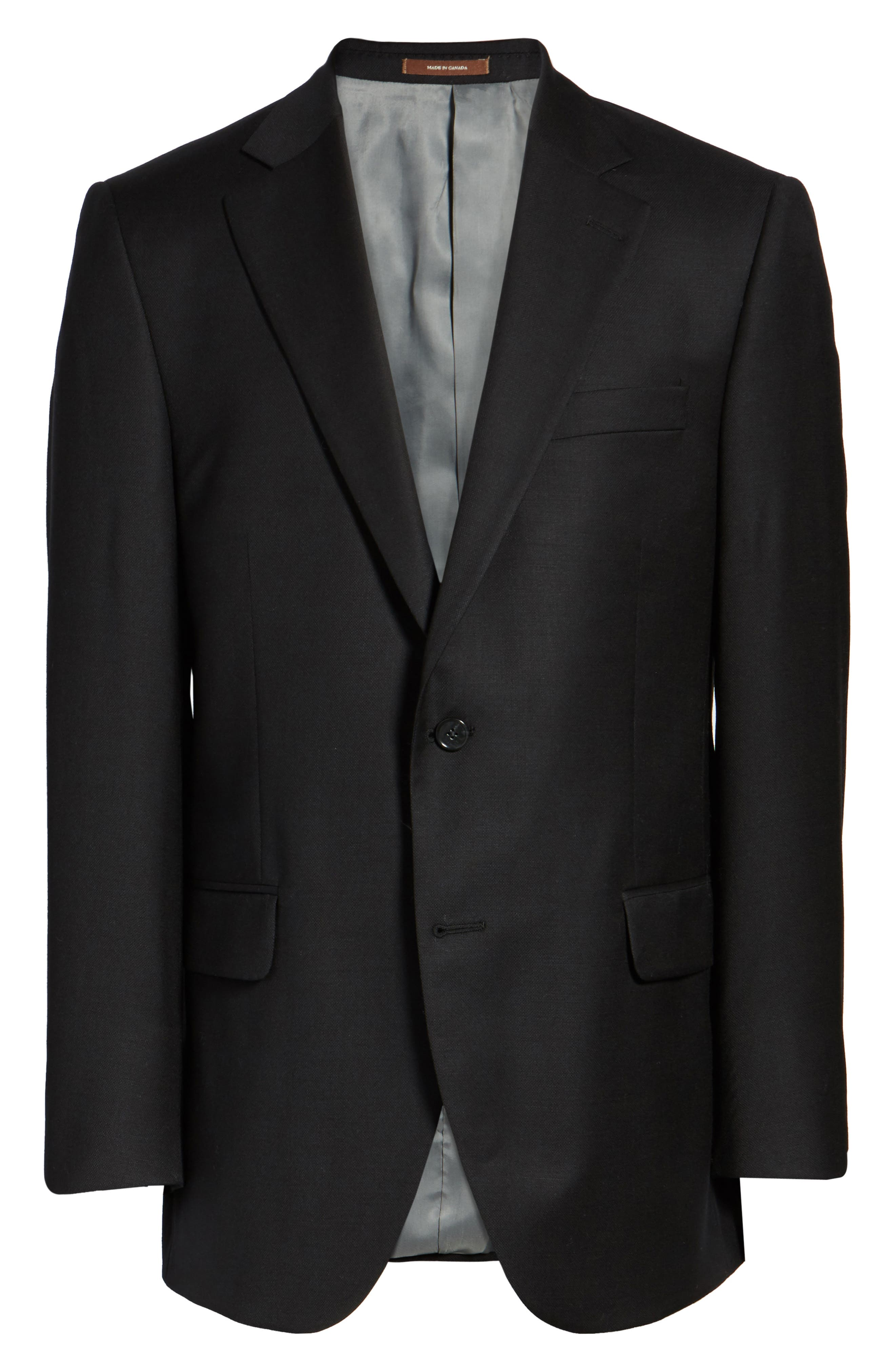 Flynn Classic Fit Wool Blazer,                             Alternate thumbnail 5, color,                             BLACK