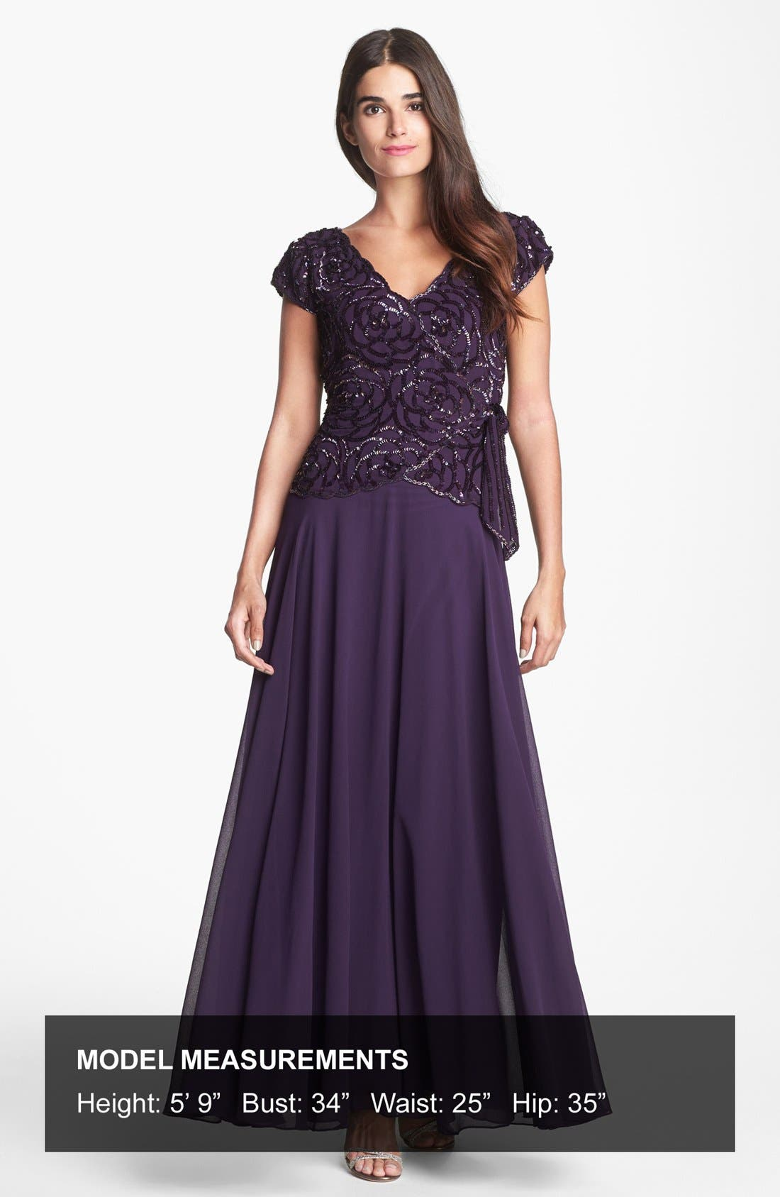Embellished Gown,                             Alternate thumbnail 4, color,                             516
