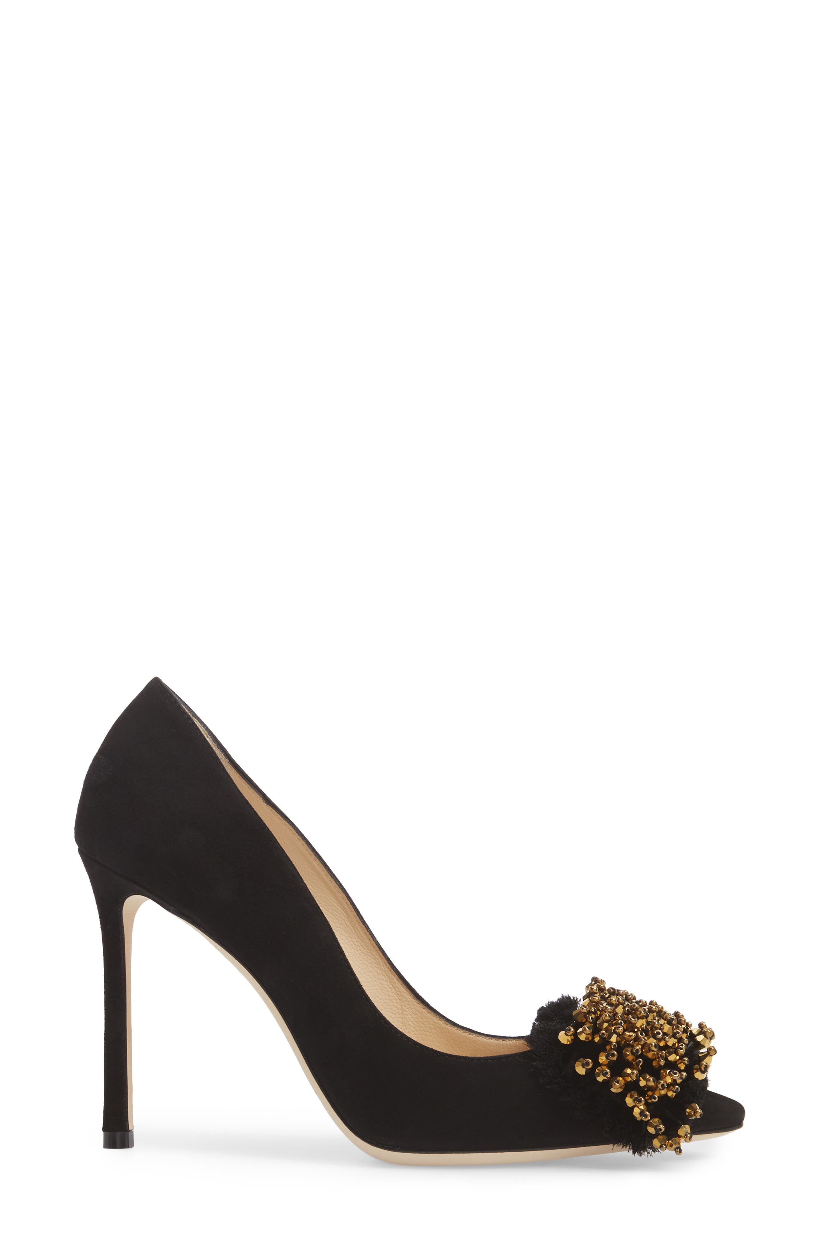 Thelma Beaded Pump,                             Alternate thumbnail 3, color,