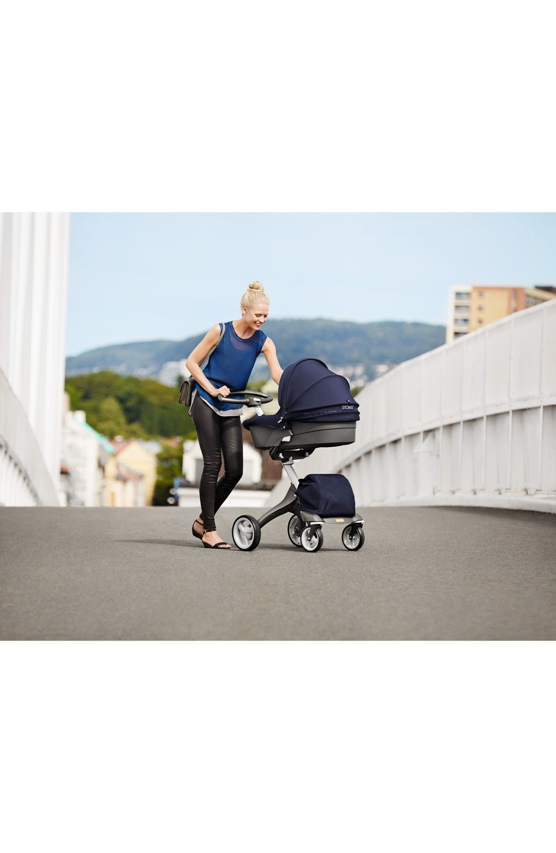 STOKKE,                             'Xplory<sup>®</sup>' Stroller Carry Cot,                             Alternate thumbnail 3, color,                             001