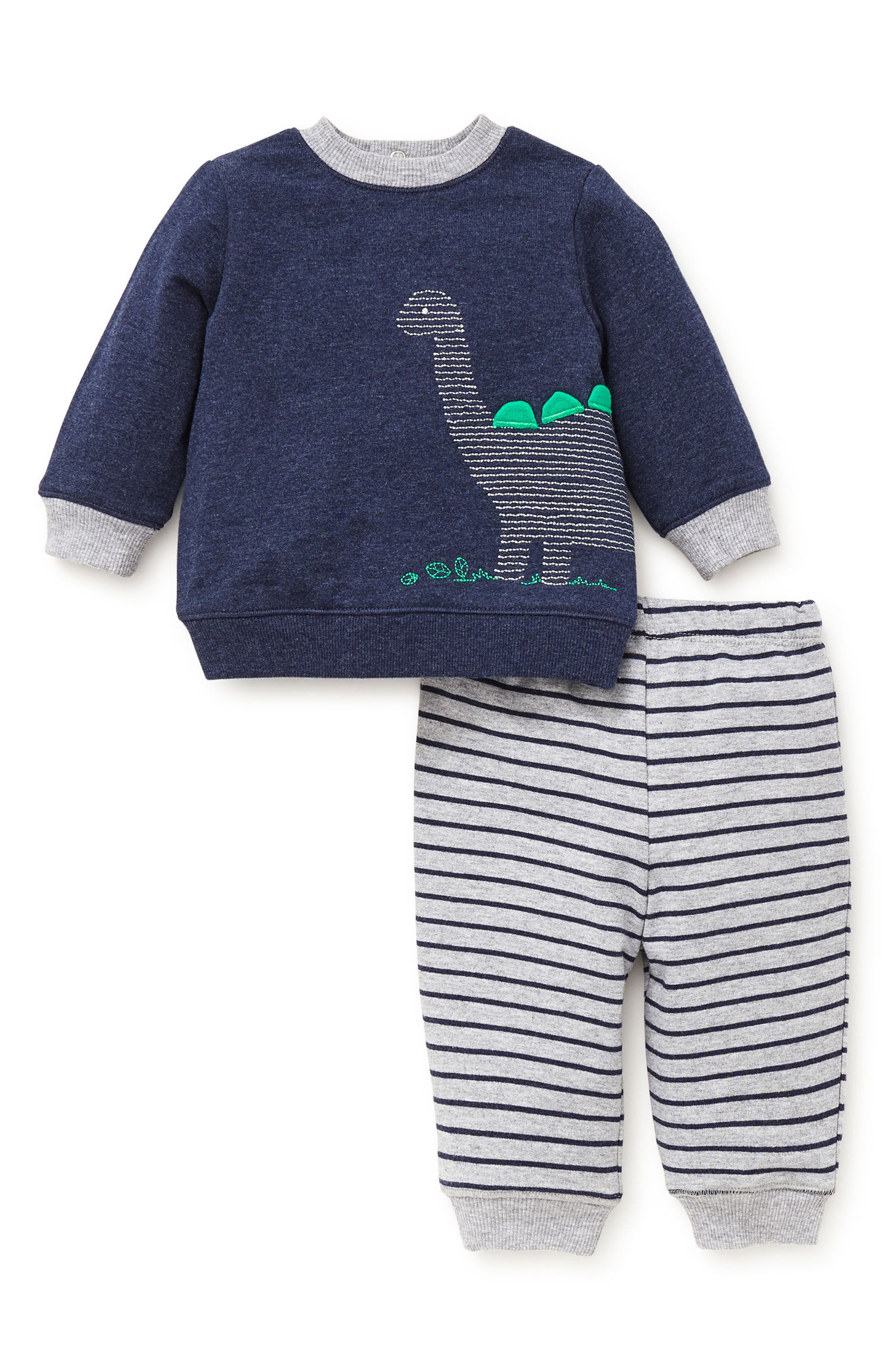 Dino Sweatshirt & Sweatpants Set,                             Alternate thumbnail 2, color,                             472