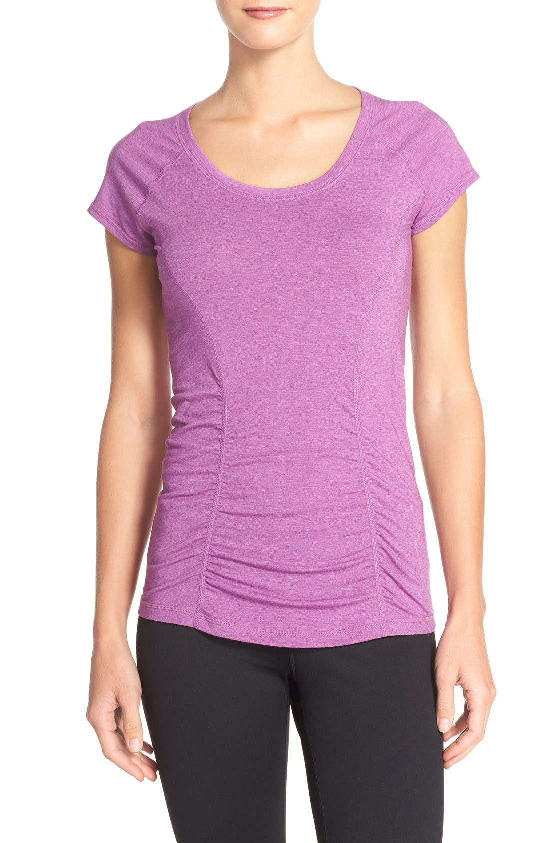 'Z 6' Ruched Tee,                             Main thumbnail 13, color,