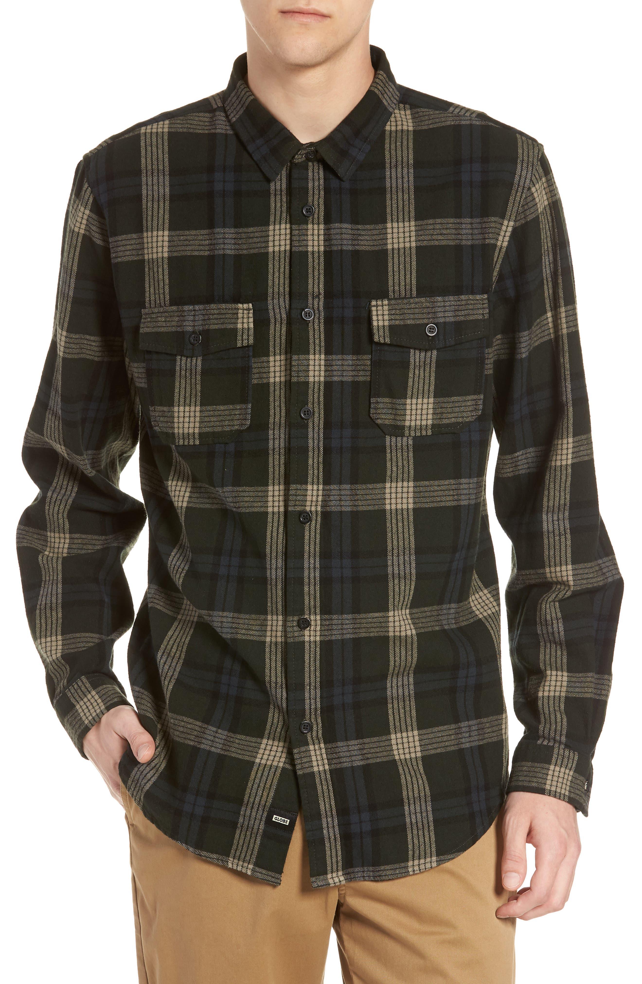 Flanigan Woven Shirt,                         Main,                         color, SHADOW