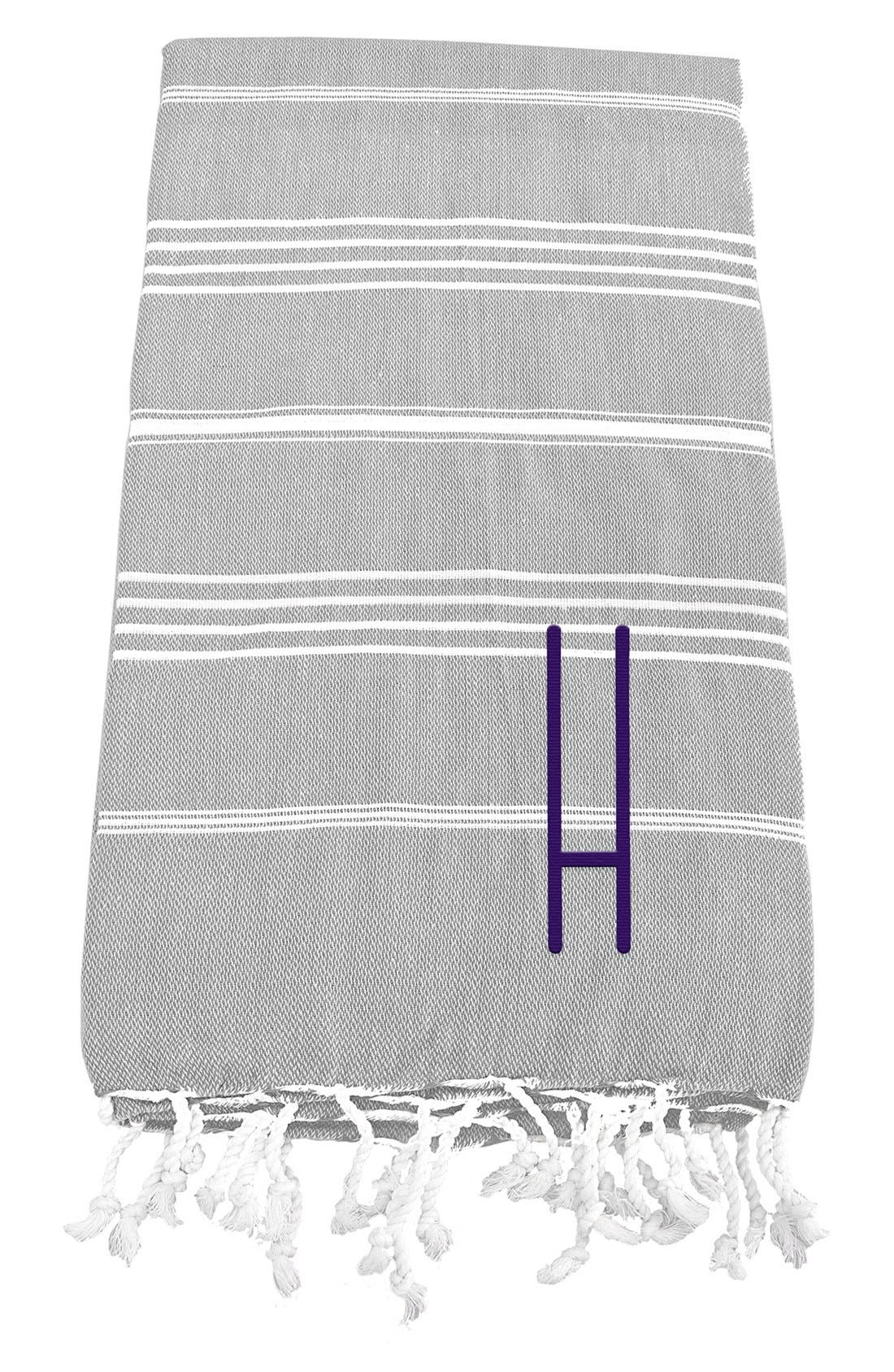 Monogram Turkish Cotton Towel,                             Main thumbnail 10, color,