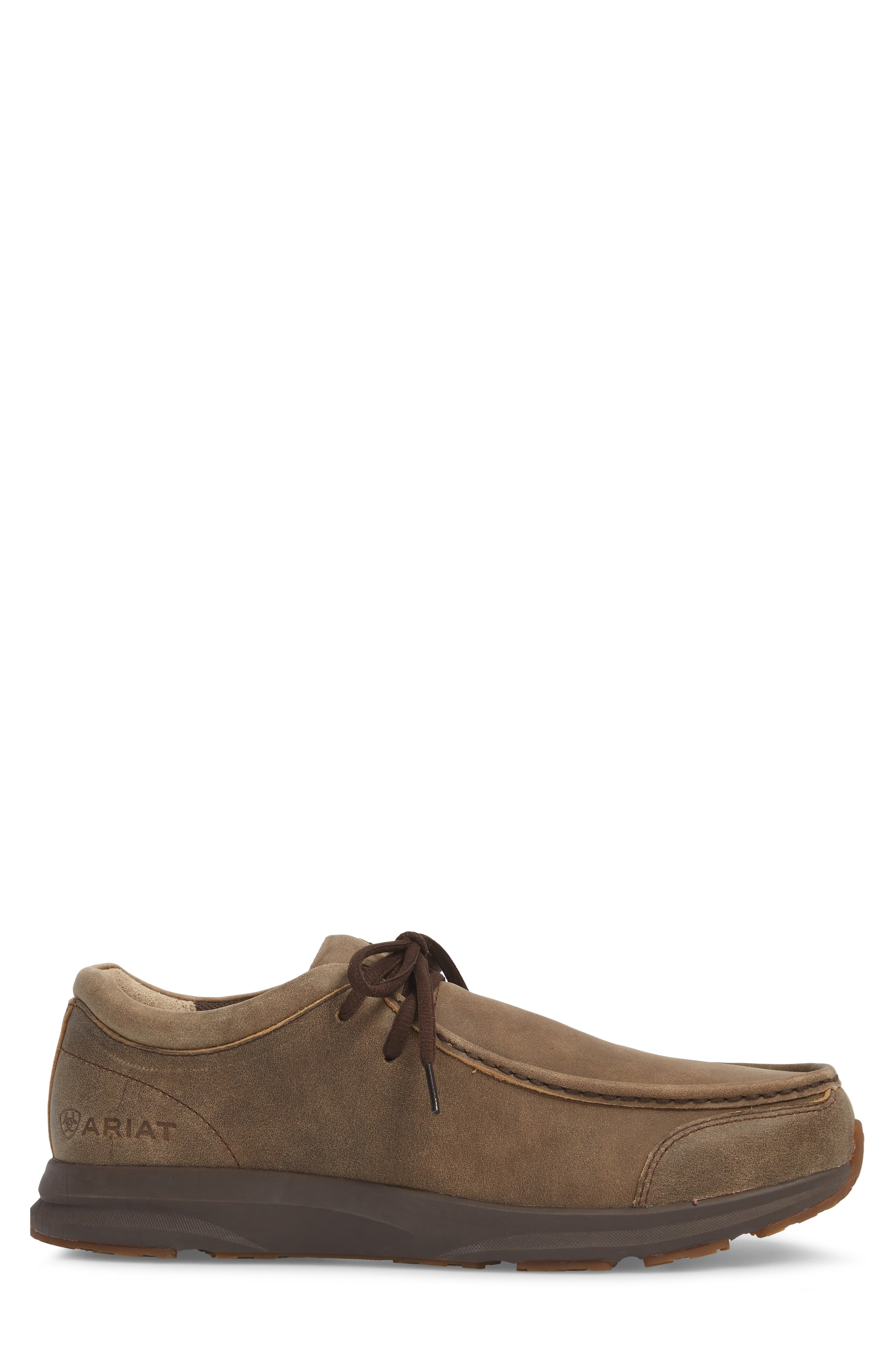 Spitfire Moc Toe Lace-Up,                             Alternate thumbnail 3, color,                             BROWN LEATHER