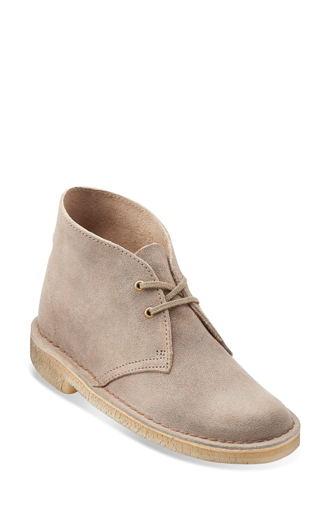 Desert Boot,                             Main thumbnail 1, color,                             TAUPE DISTRESSED SUEDE