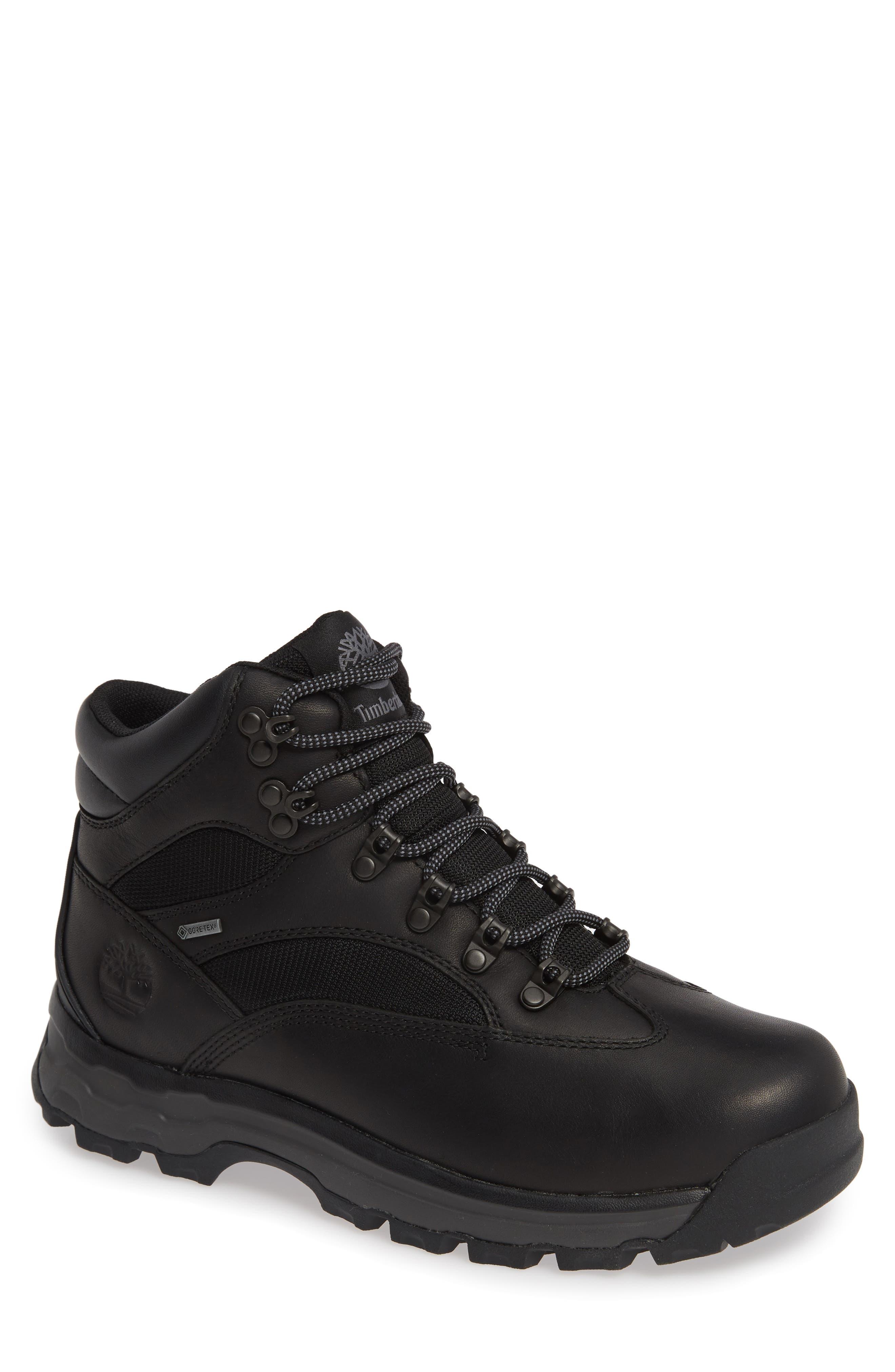 TIMBERLAND Chocorua Trail Gore-Tex<sup>®</sup> Waterproof Hiking Boot, Main, color, BLACK FULL GRAIN GORE TEX