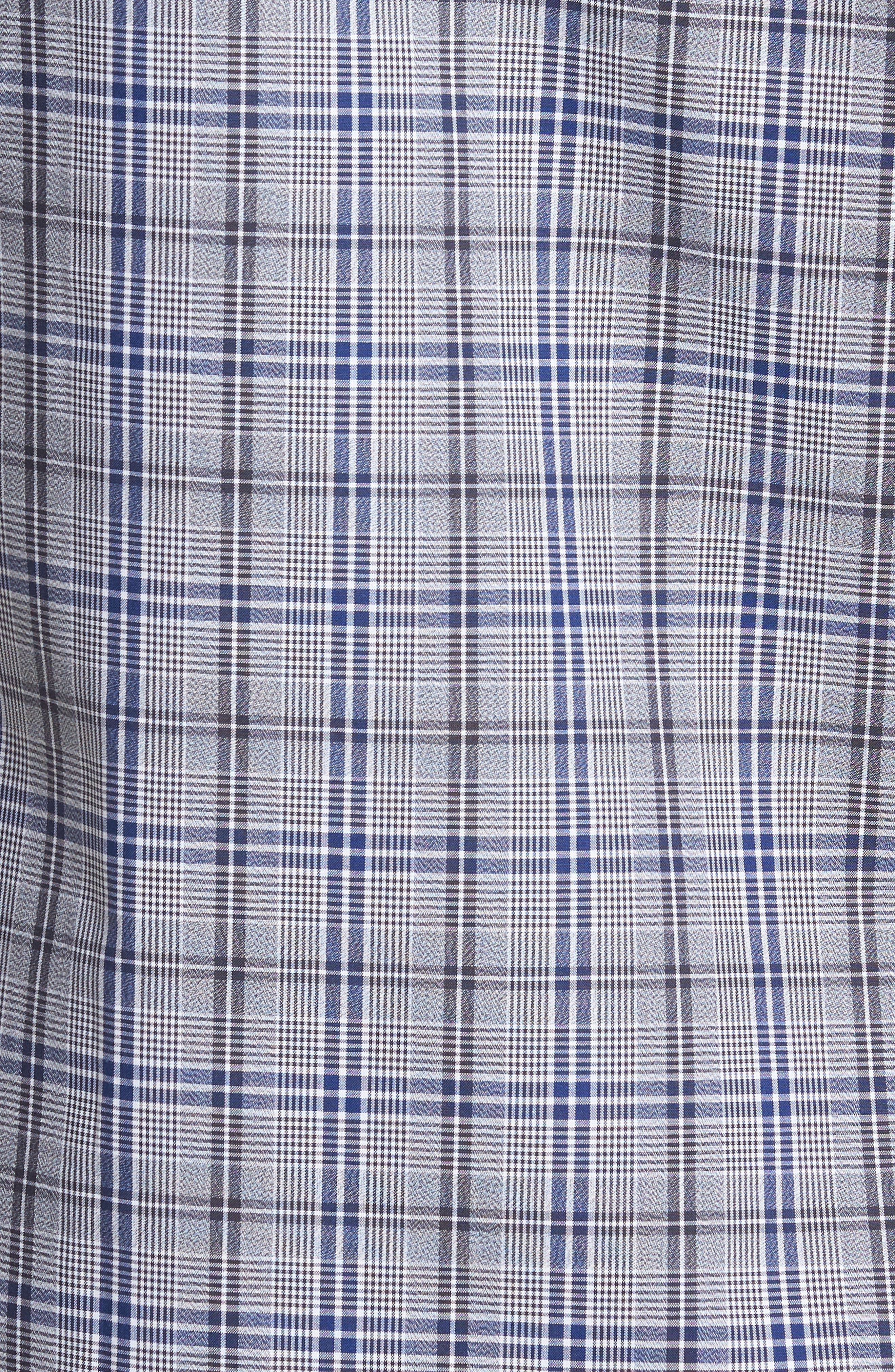 Trim Fit Non-Iron Check Sport Shirt,                             Alternate thumbnail 5, color,                             030
