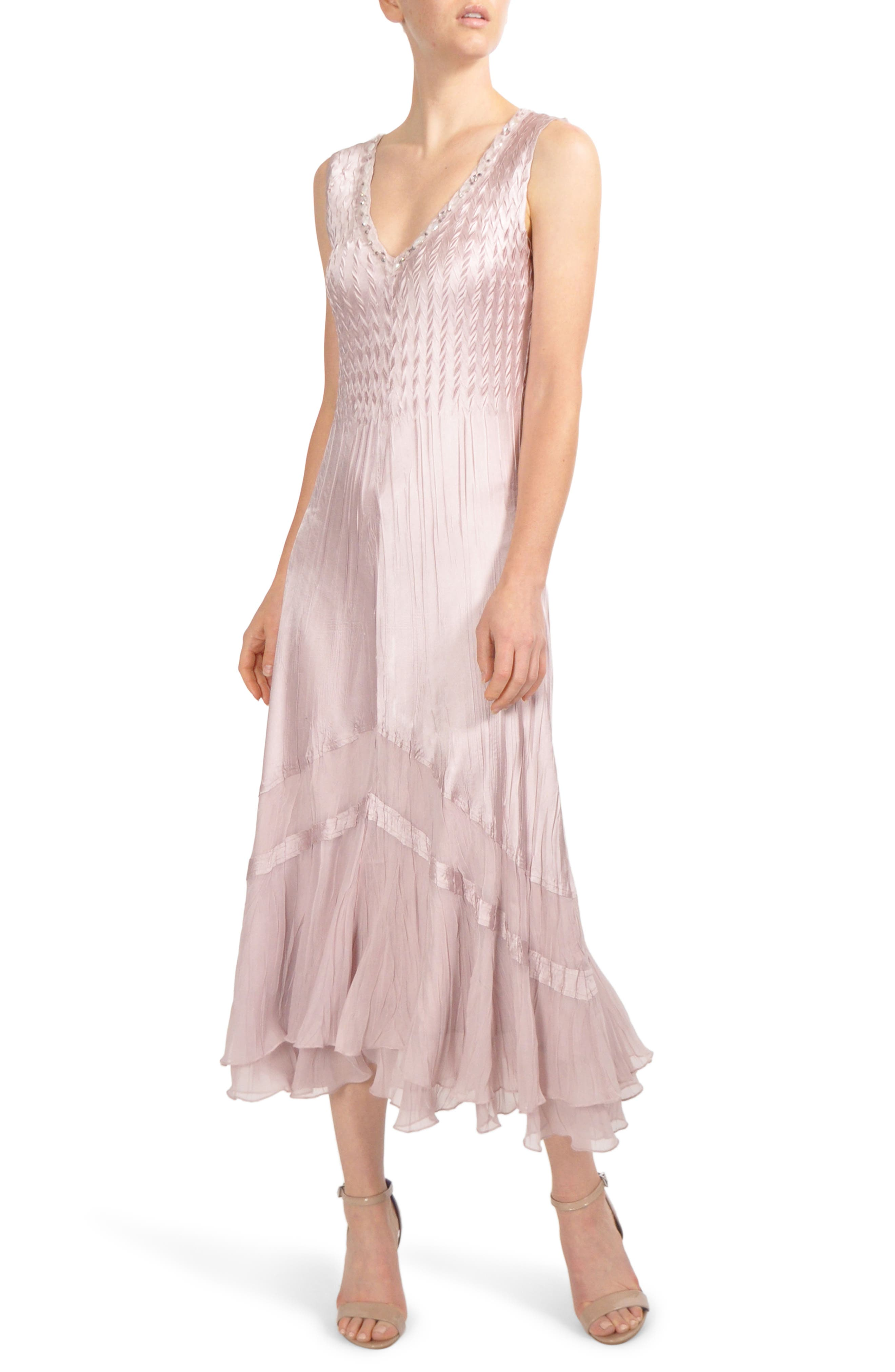 Embellished Tiered Hem Dress With Jacket,                             Alternate thumbnail 3, color,