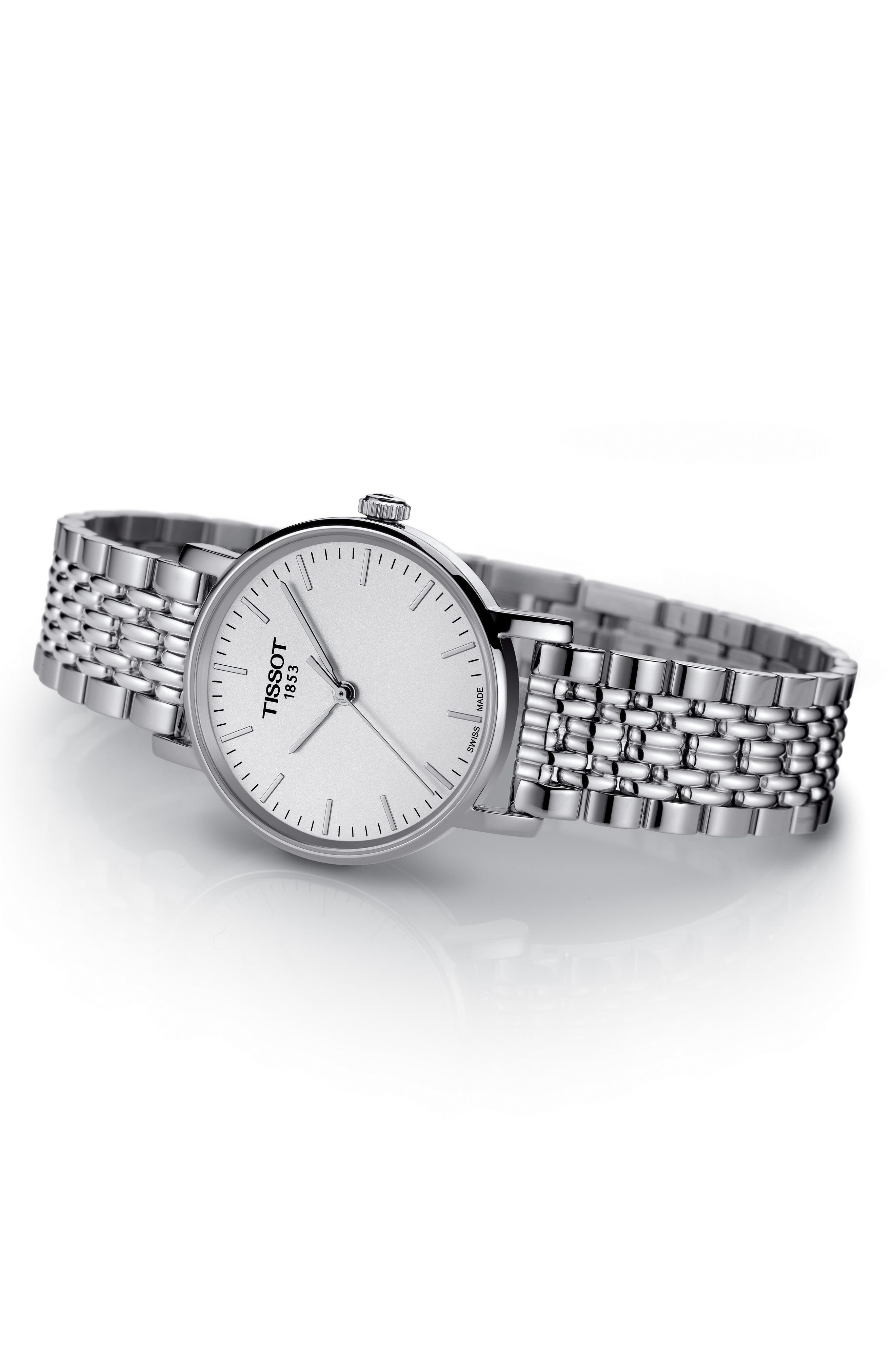 Everytime Bracelet Watch, 30mm,                             Alternate thumbnail 2, color,                             SILVER