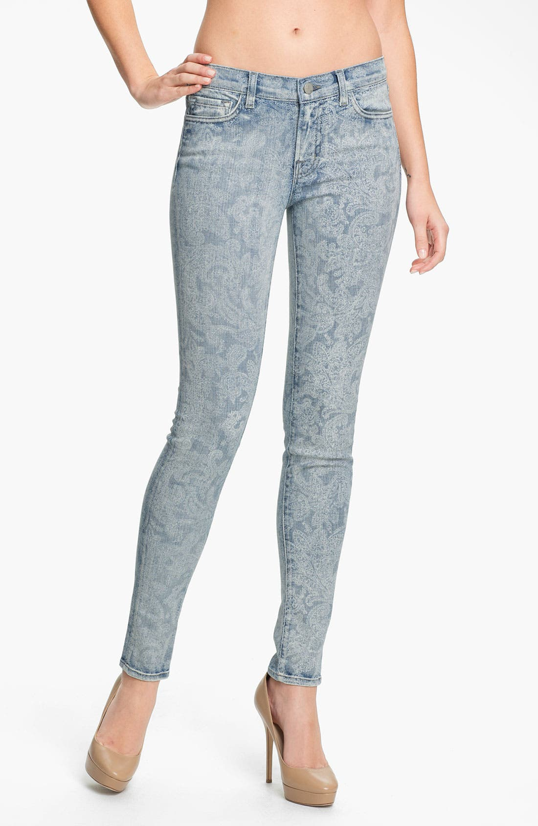 Print Skinny Leg Jeans,                         Main,                         color, 453
