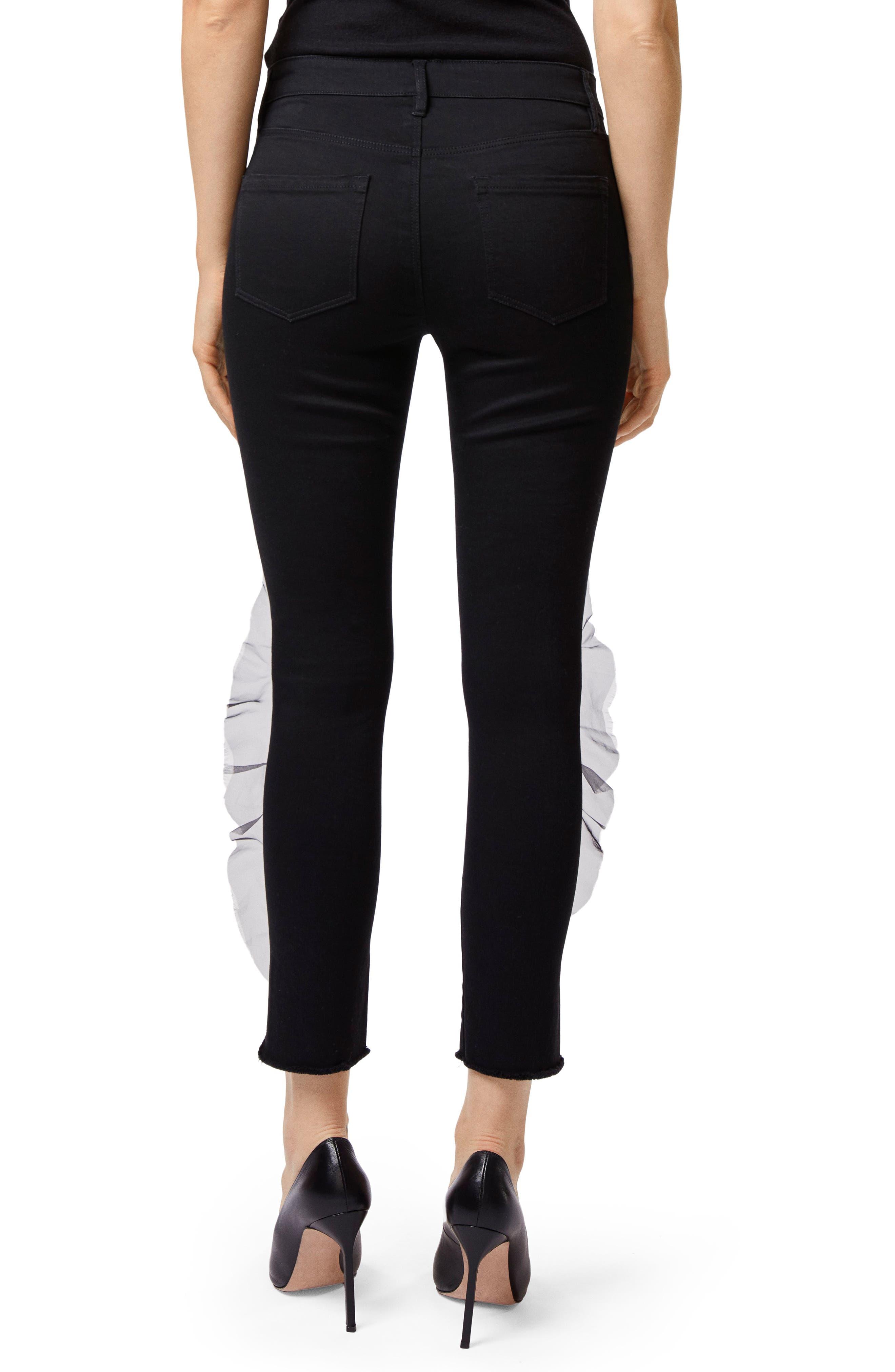 835 Split Hem Crop Skinny Jeans,                             Alternate thumbnail 2, color,                             008