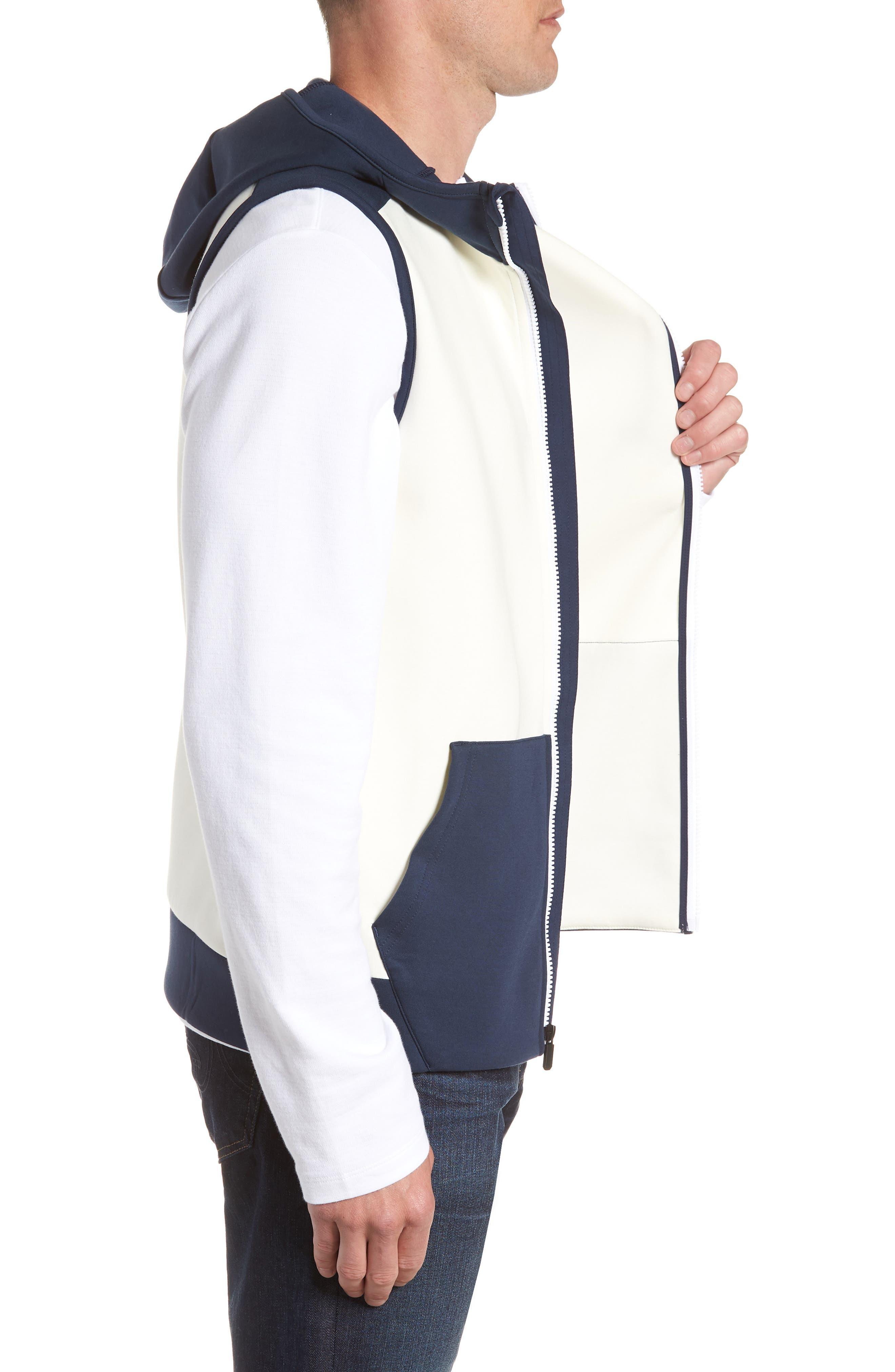 Unstoppable Knit Vest,                             Alternate thumbnail 3, color,                             WHITE / SUMMER NIGHT / BLACK