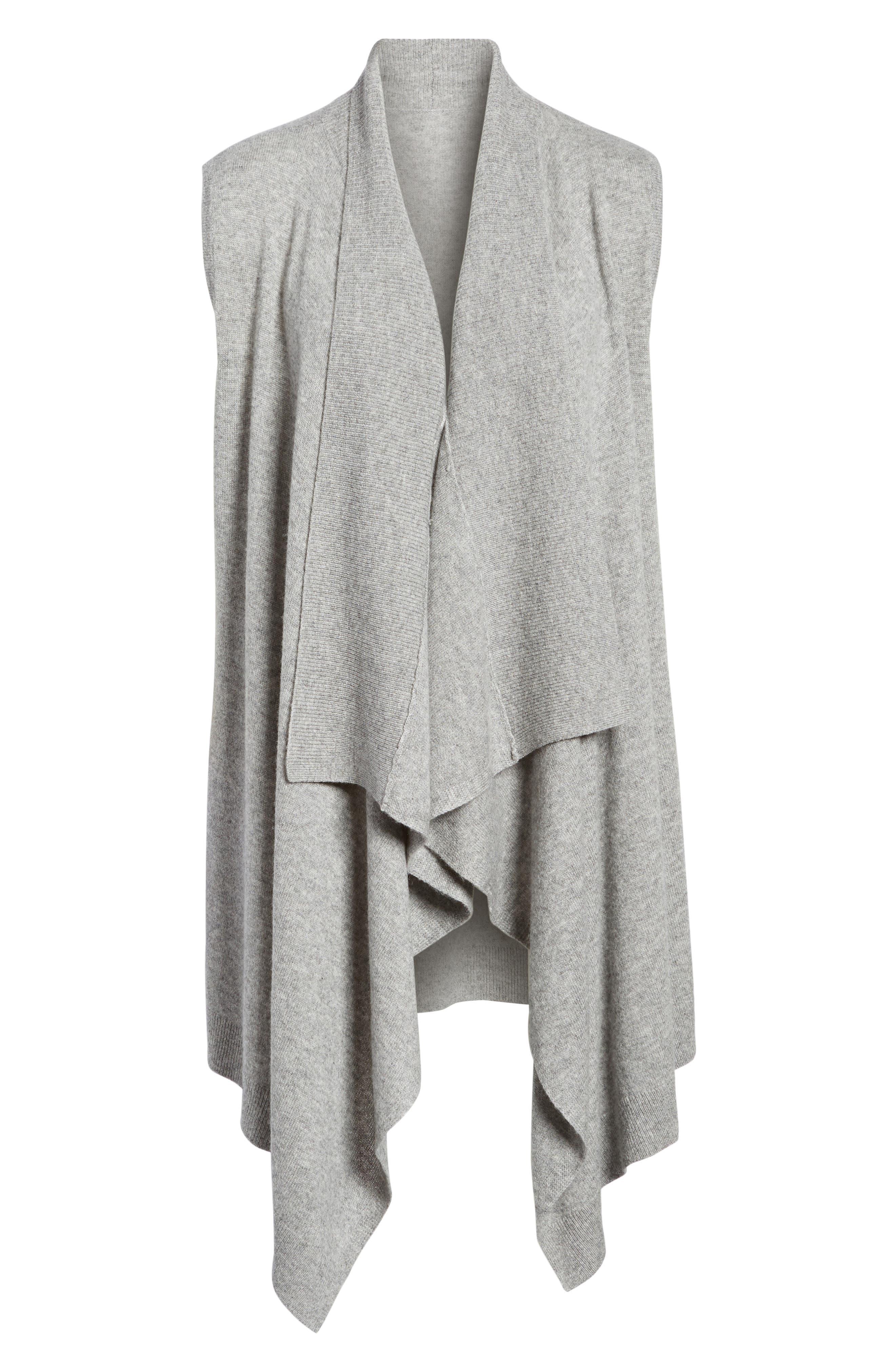 Wool & Cashmere Drape Front Sweater Vest,                             Alternate thumbnail 41, color,