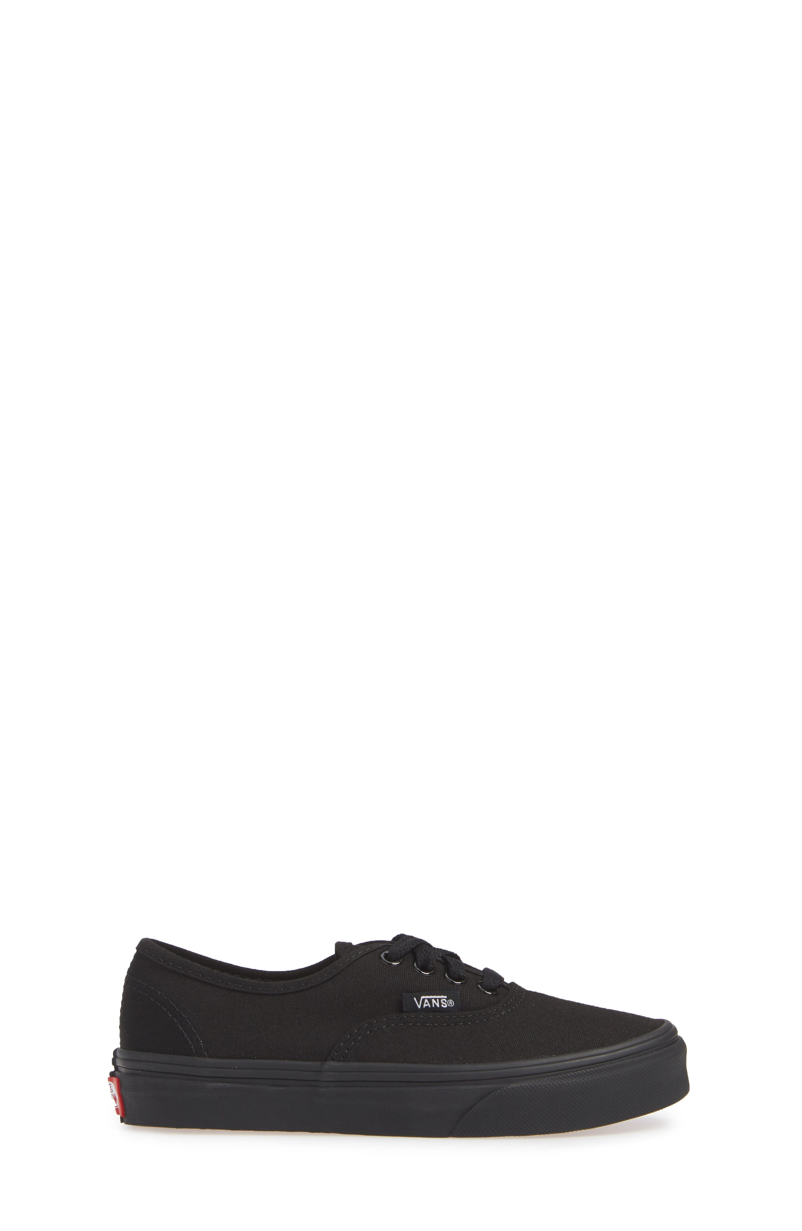 'Authentic' Sneaker,                             Alternate thumbnail 3, color,                             BLACK/ BLACK/ BLACK
