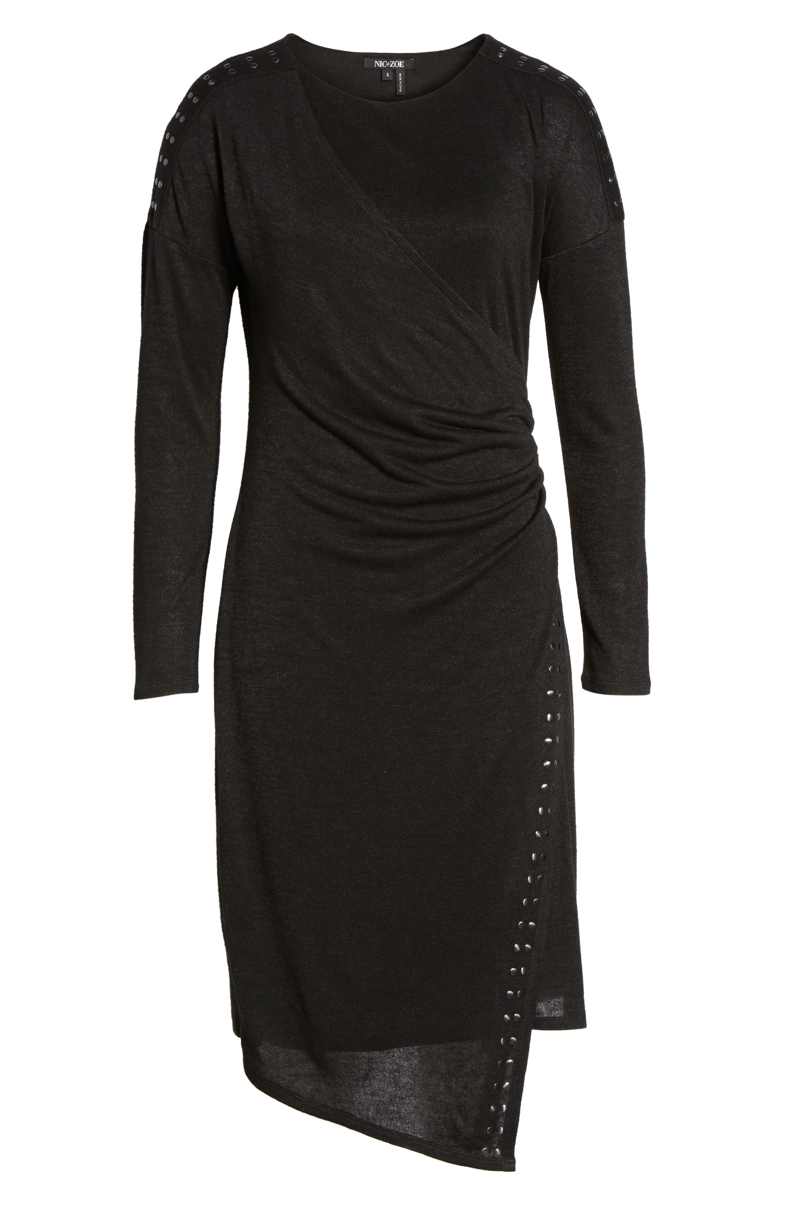 Studded Every Occasion Dress,                             Alternate thumbnail 6, color,                             BLACK ONYX