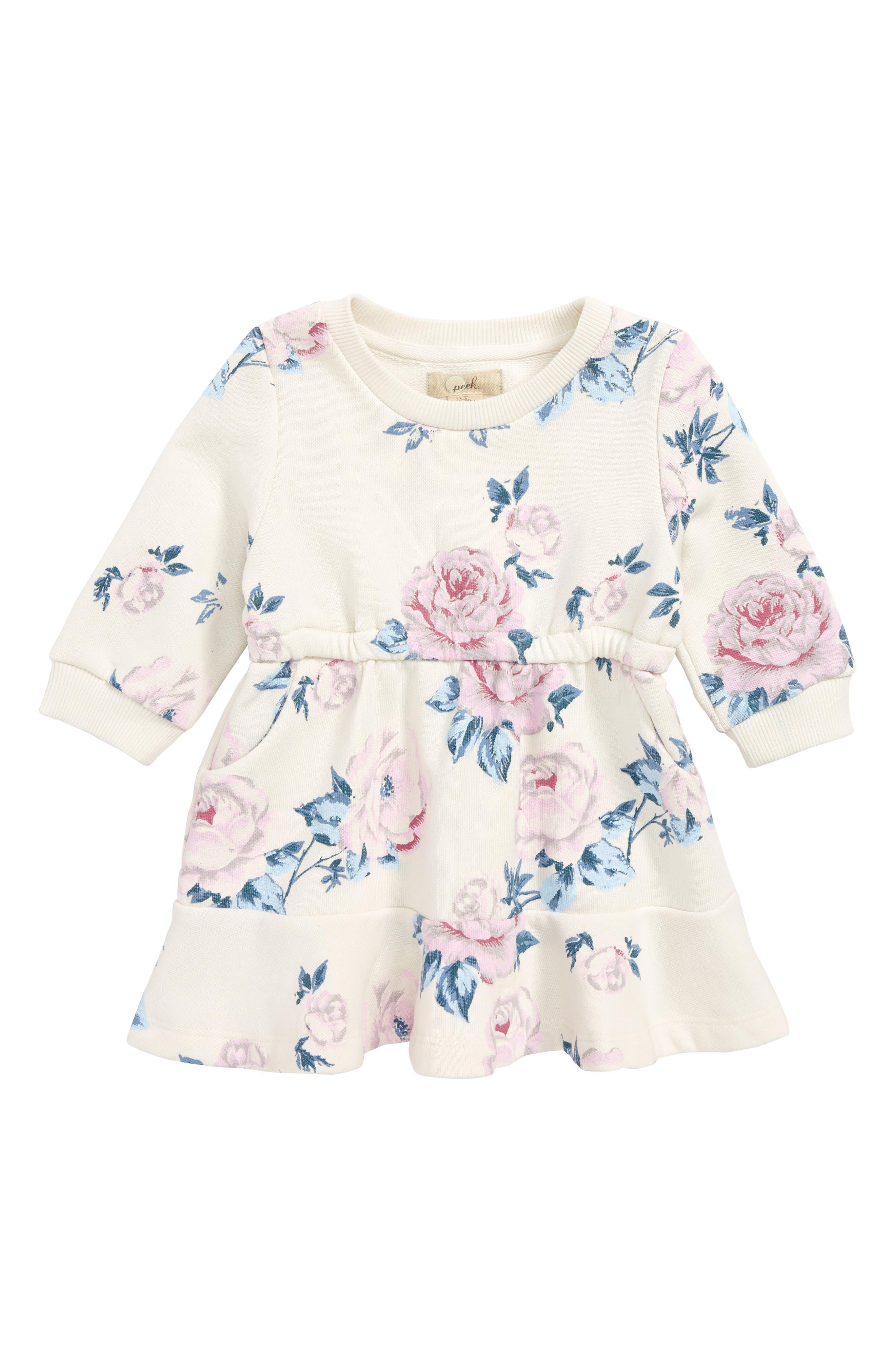 Peek Kirsten Floral Print Dress,                         Main,                         color, 906