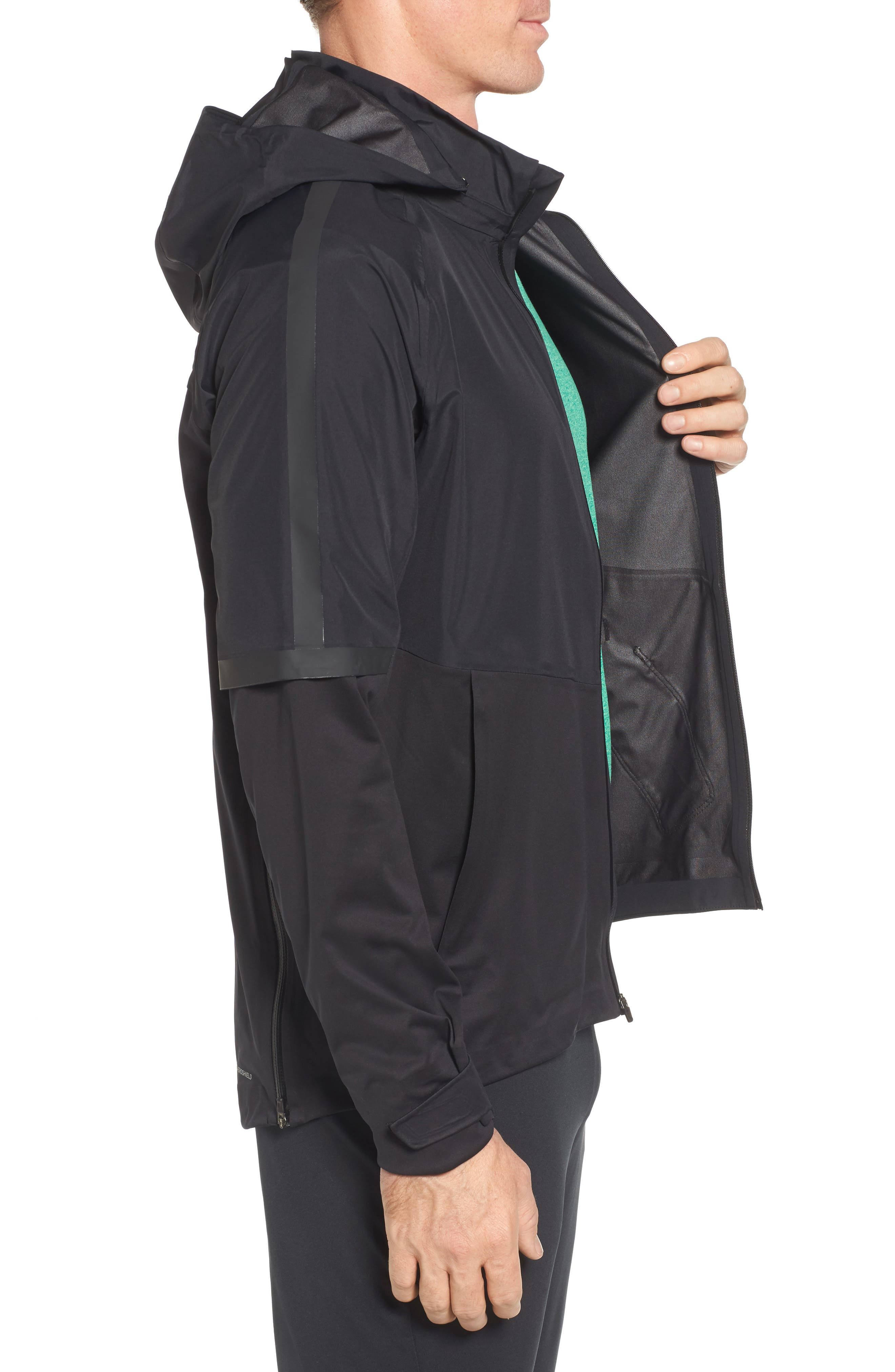 AeroShield Running Jacket,                             Alternate thumbnail 3, color,                             010