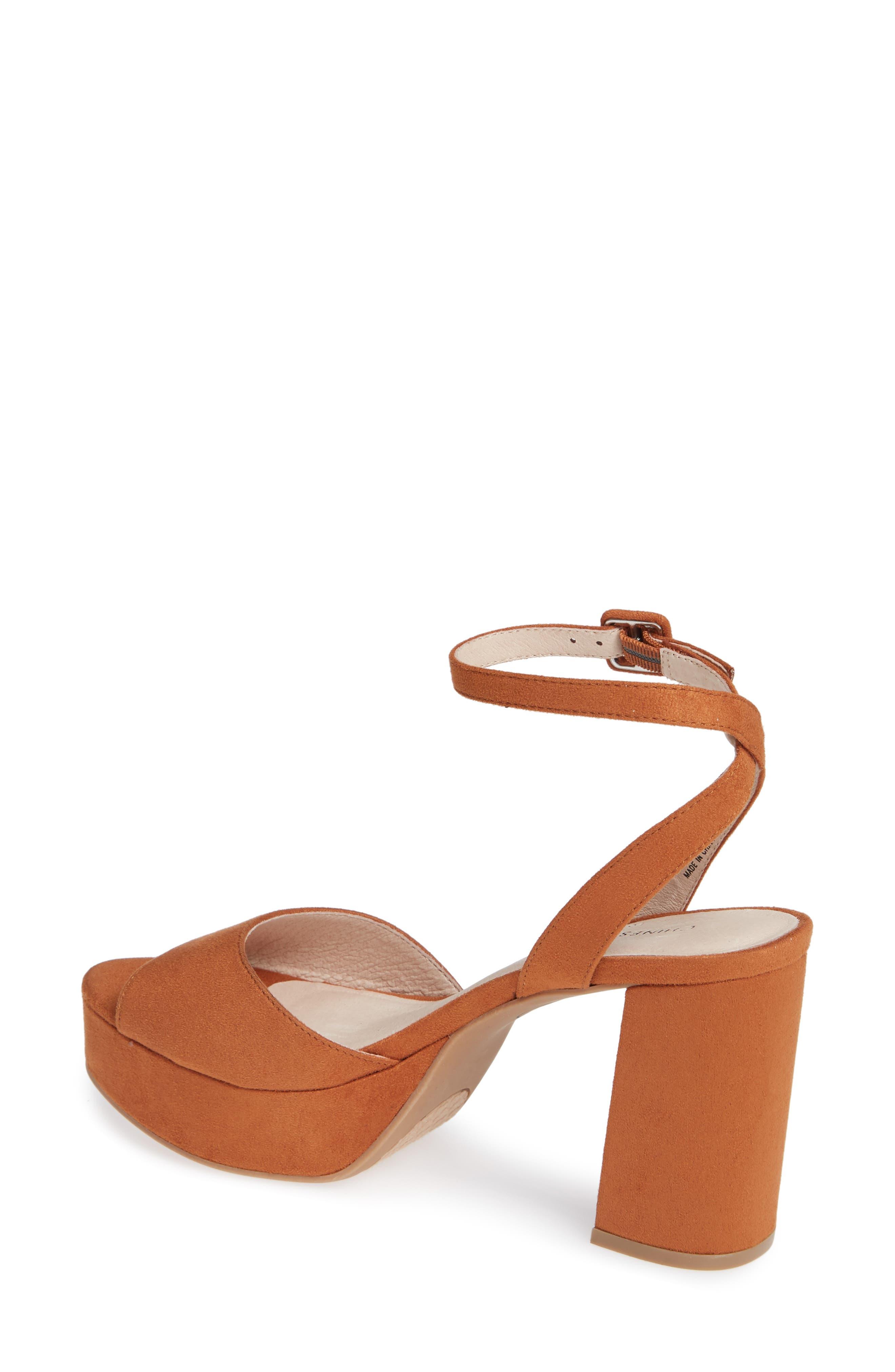 Theresa Platform Sandal,                             Alternate thumbnail 2, color,                             UMBER SUEDE