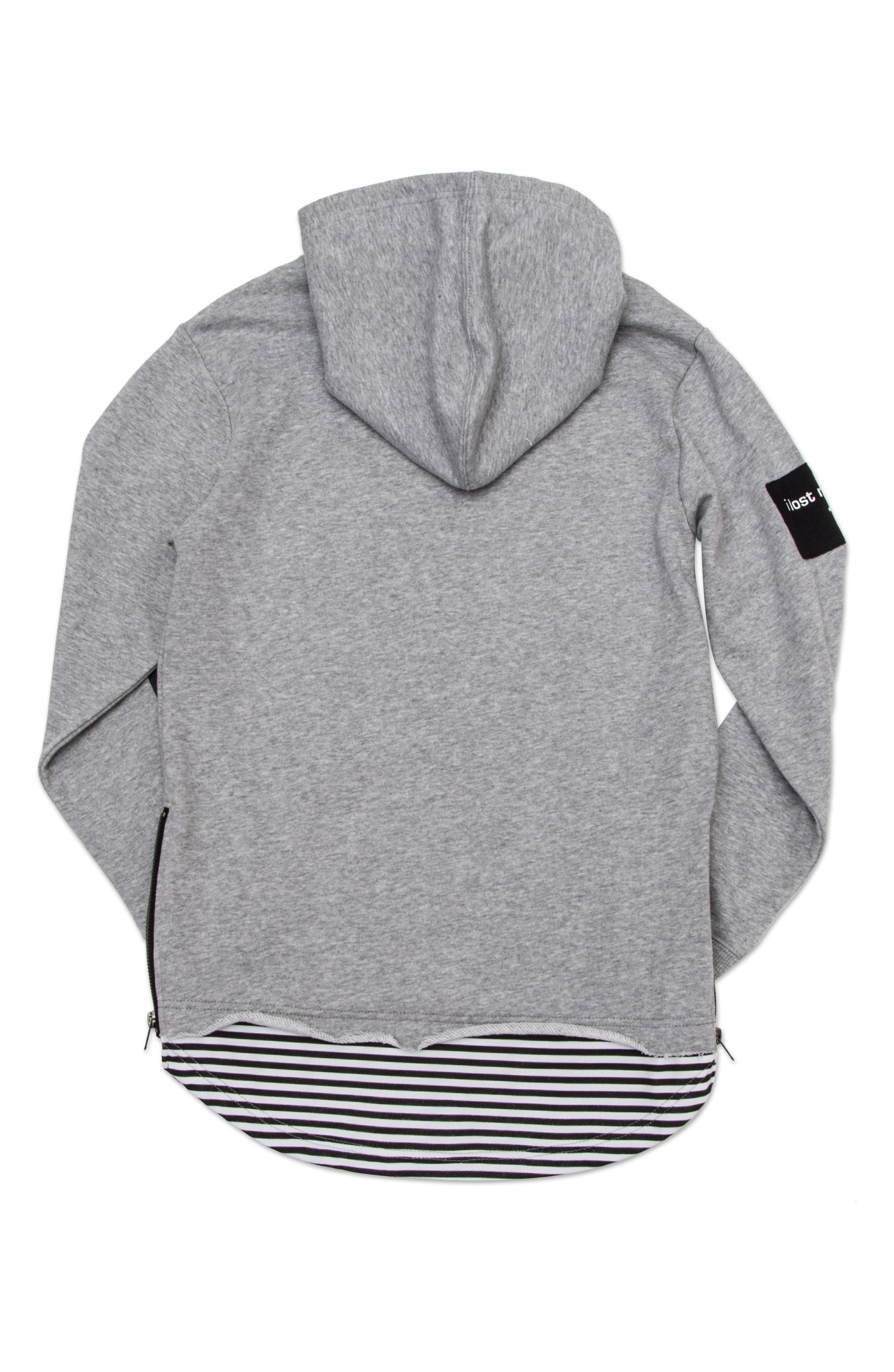 Dropped Hem Pullover Hoodie,                             Alternate thumbnail 2, color,