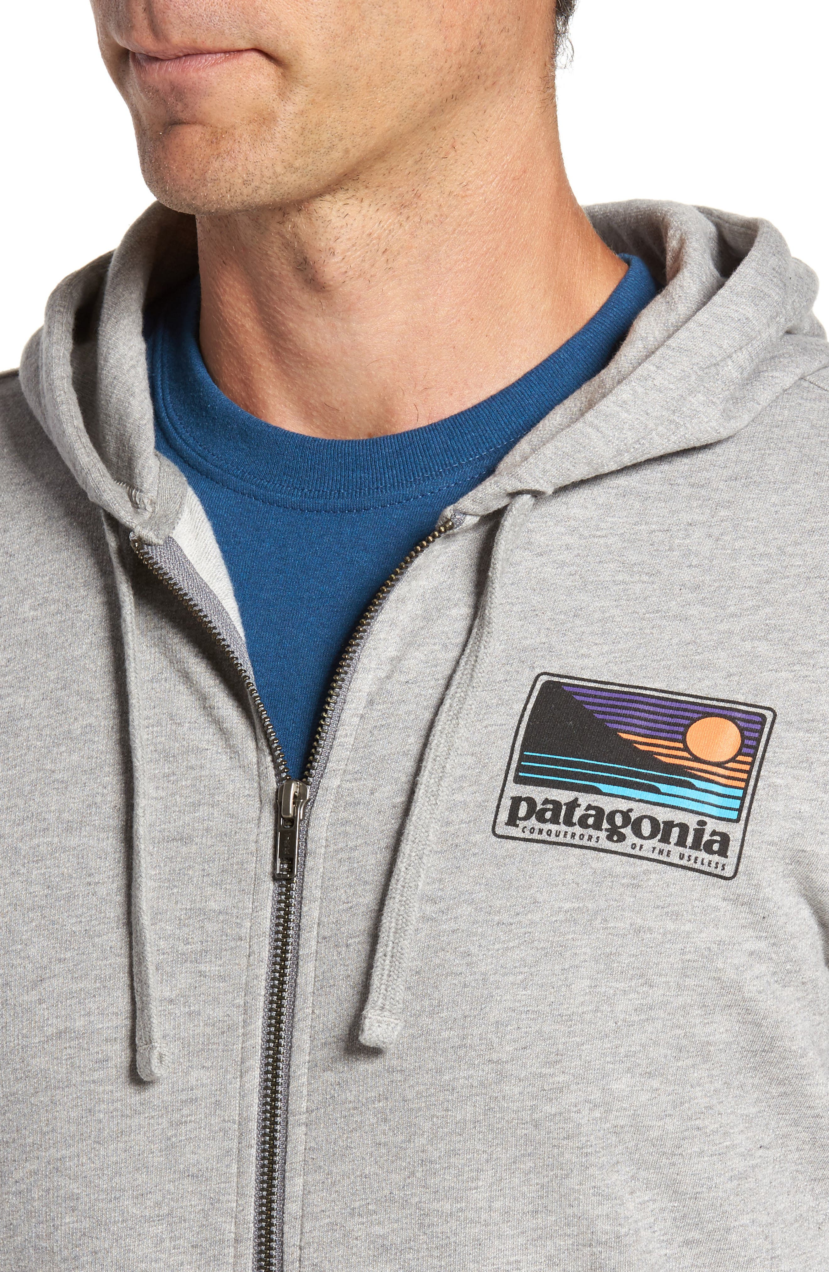 Up & Out Lightweight Zip Hoodie,                             Alternate thumbnail 4, color,                             020