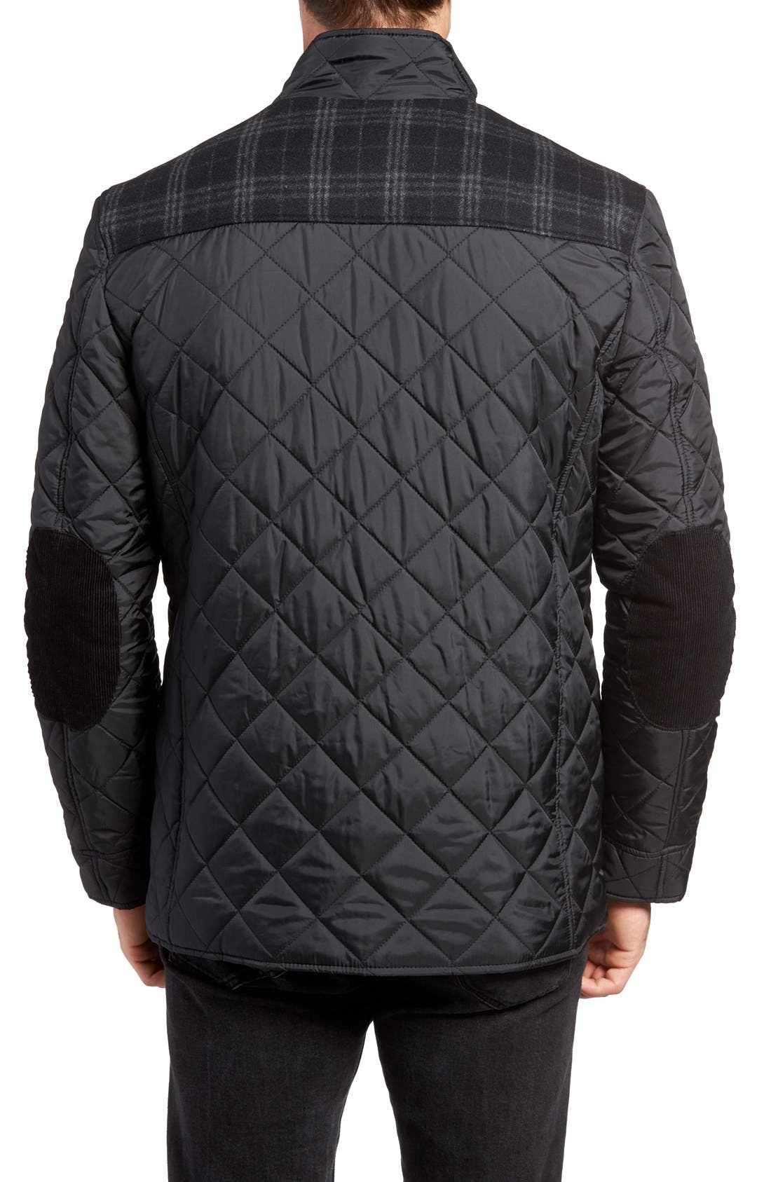 Mixed Media Quilted Jacket,                             Alternate thumbnail 2, color,                             001