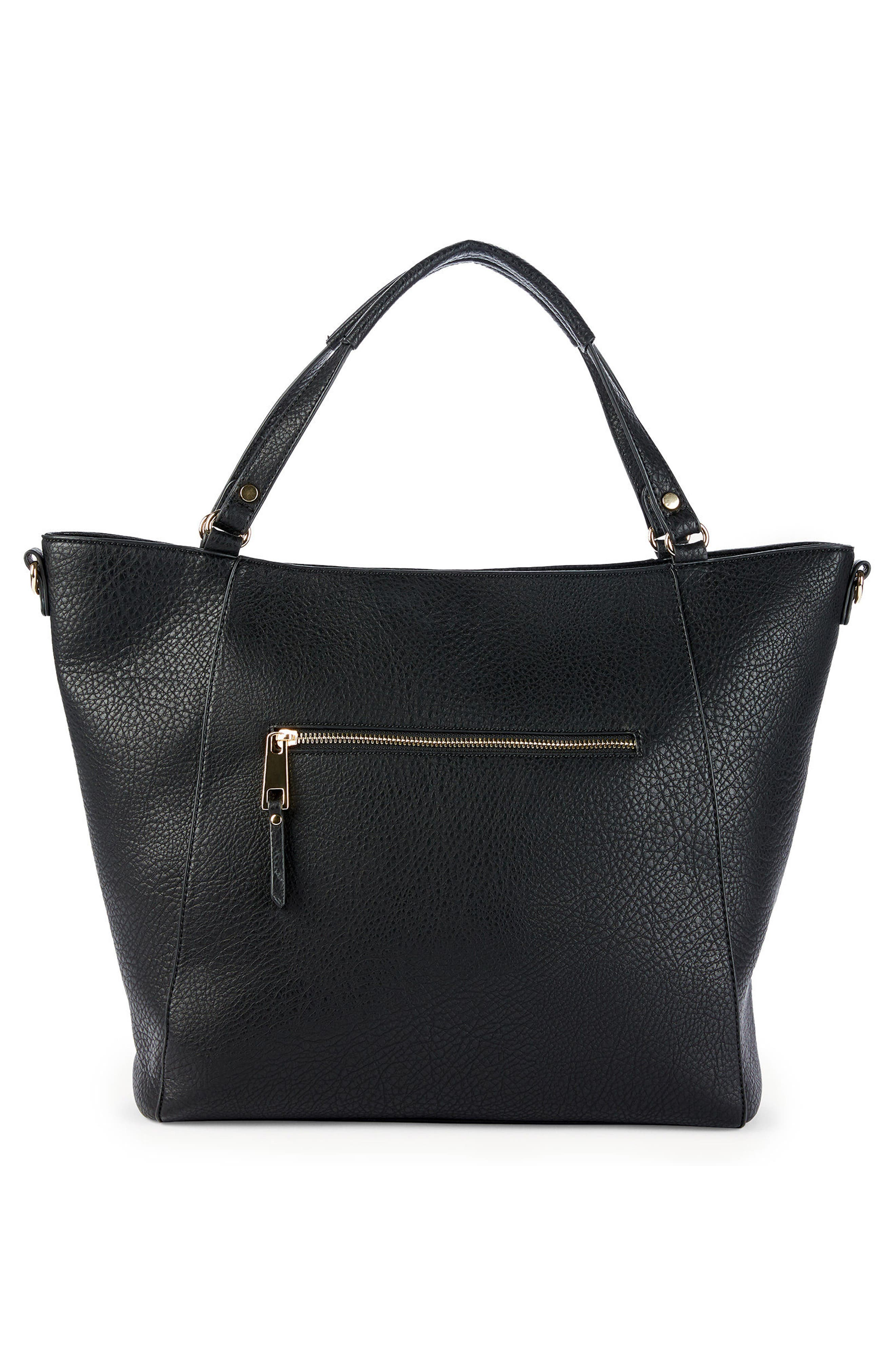 Nera Faux Leather Tote,                             Alternate thumbnail 2, color,                             001