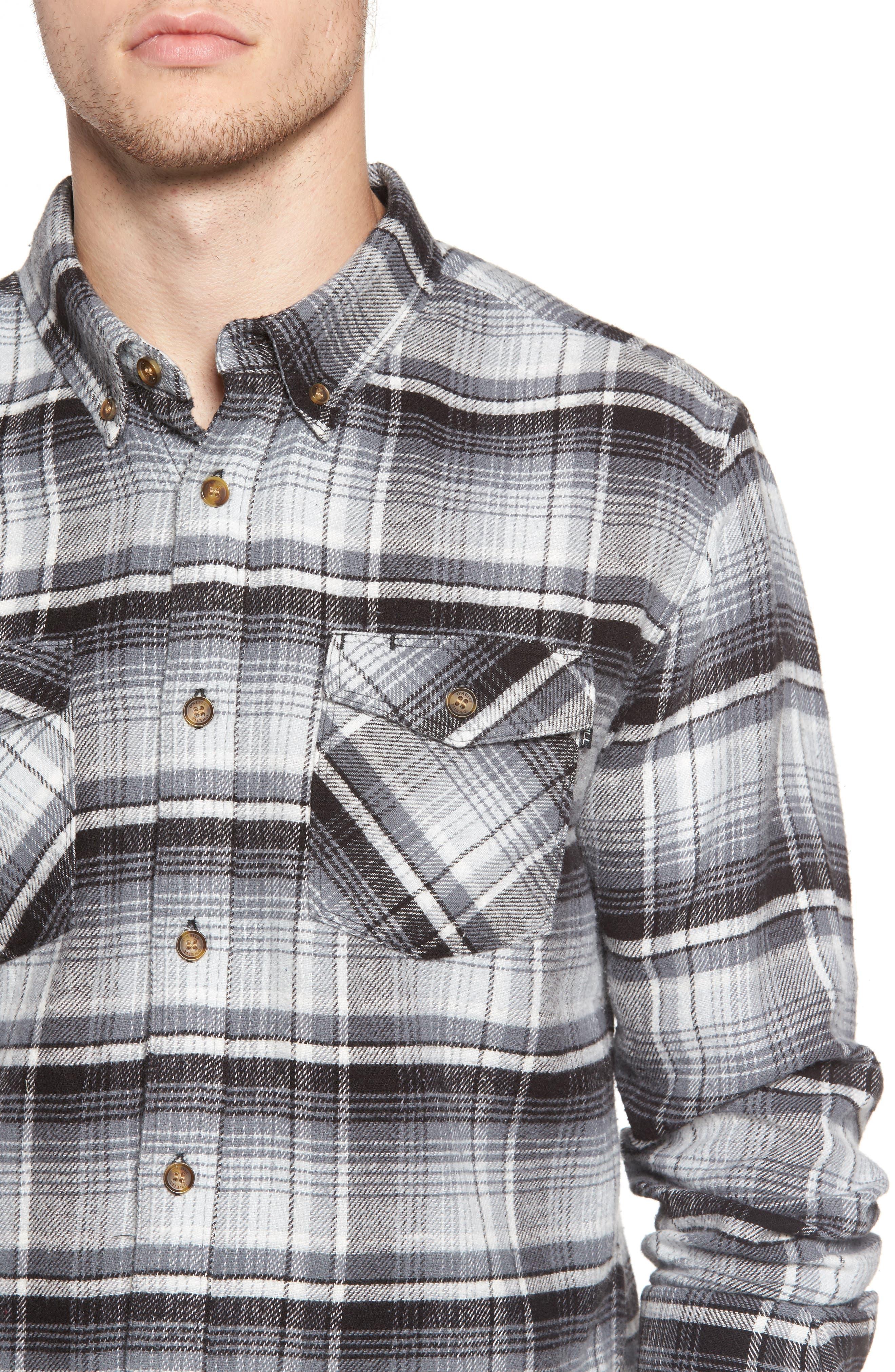 Butler Plaid Flannel Sport Shirt,                             Alternate thumbnail 10, color,