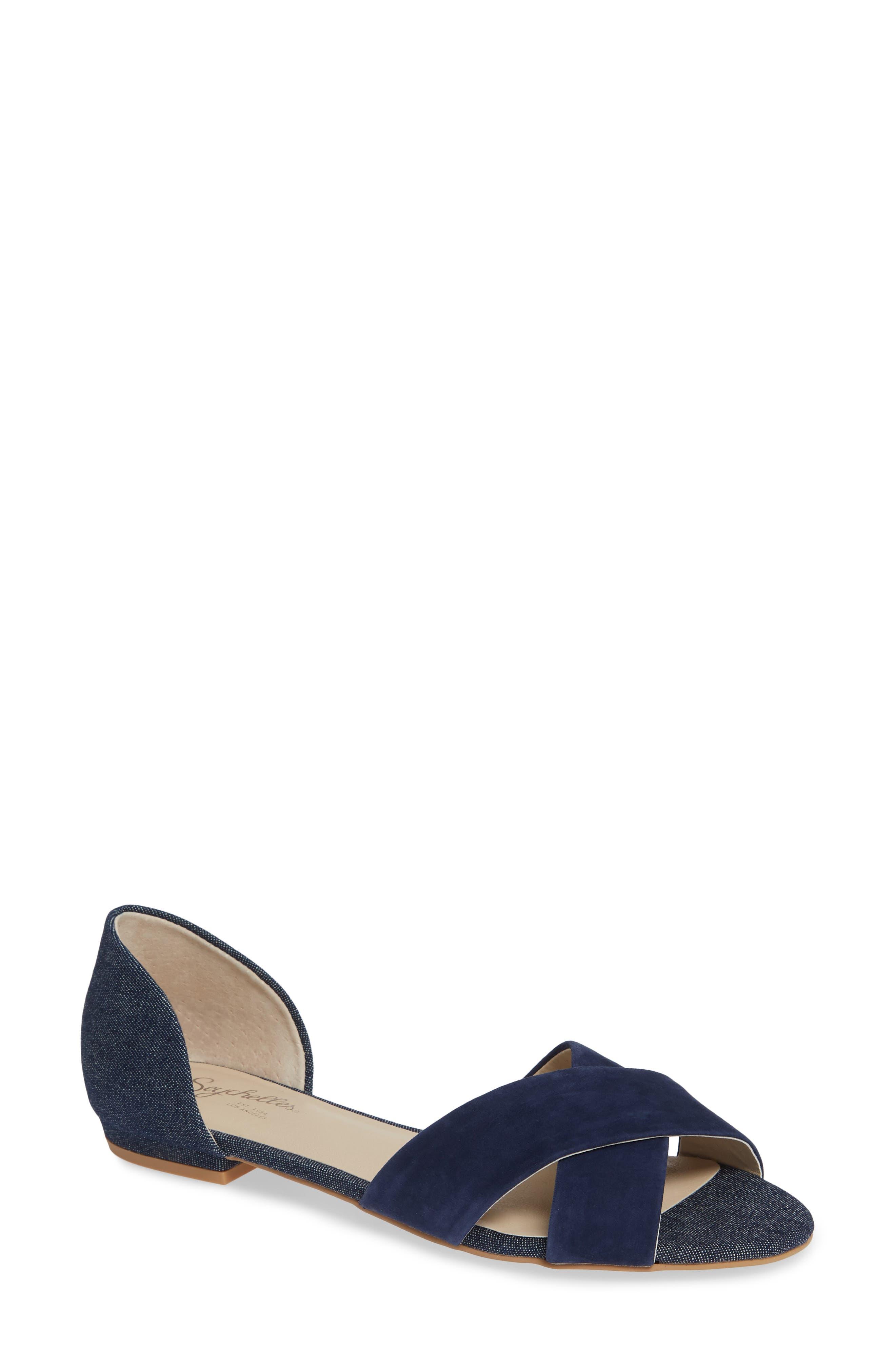 Slow Down Sandal,                         Main,                         color, NAVY SUEDE