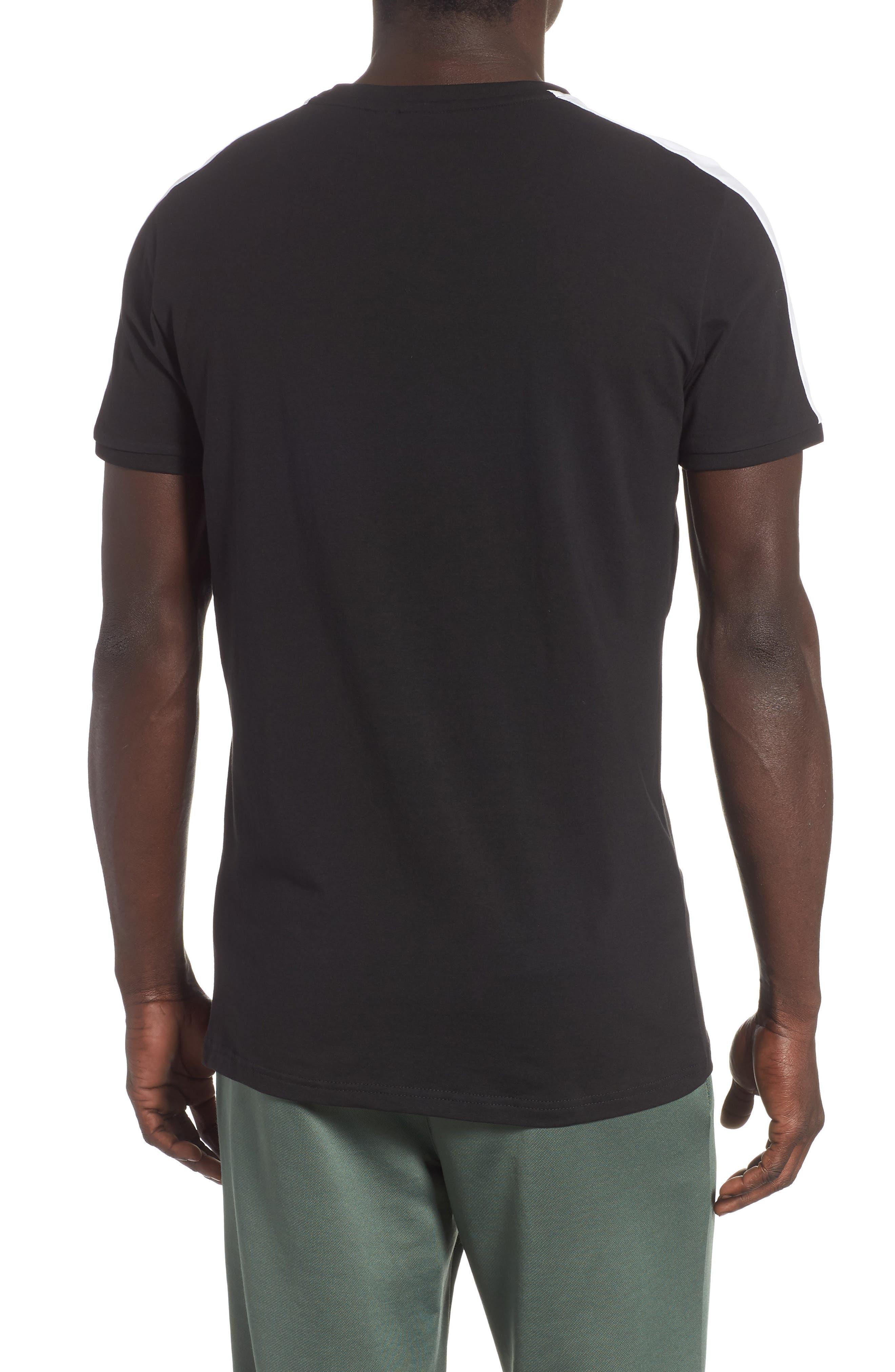 Slim fit Classics T7 T-Shirt,                             Alternate thumbnail 2, color,                             BLACK