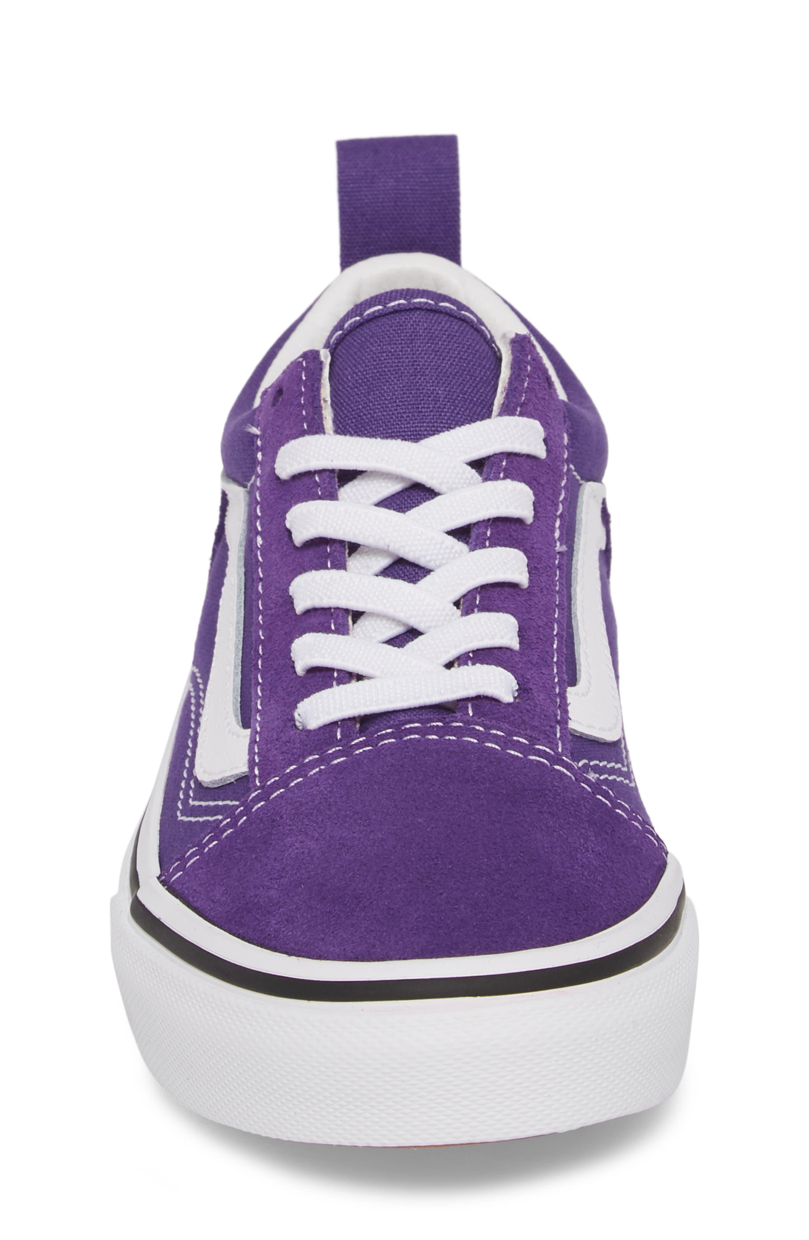 'Old Skool' Skate Sneaker,                             Alternate thumbnail 4, color,                             HELIOTROPE/ WHITE