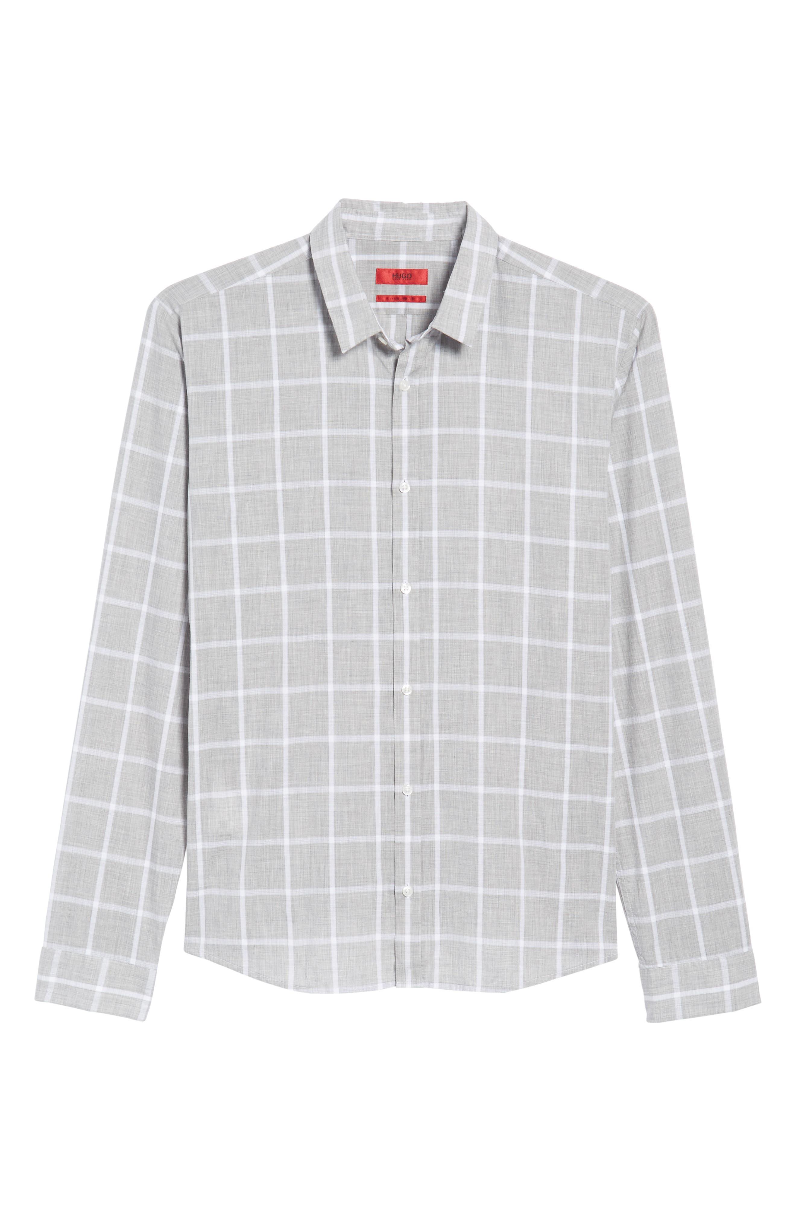 Ero Slim Fit Check Sport Shirt,                             Alternate thumbnail 6, color,                             061