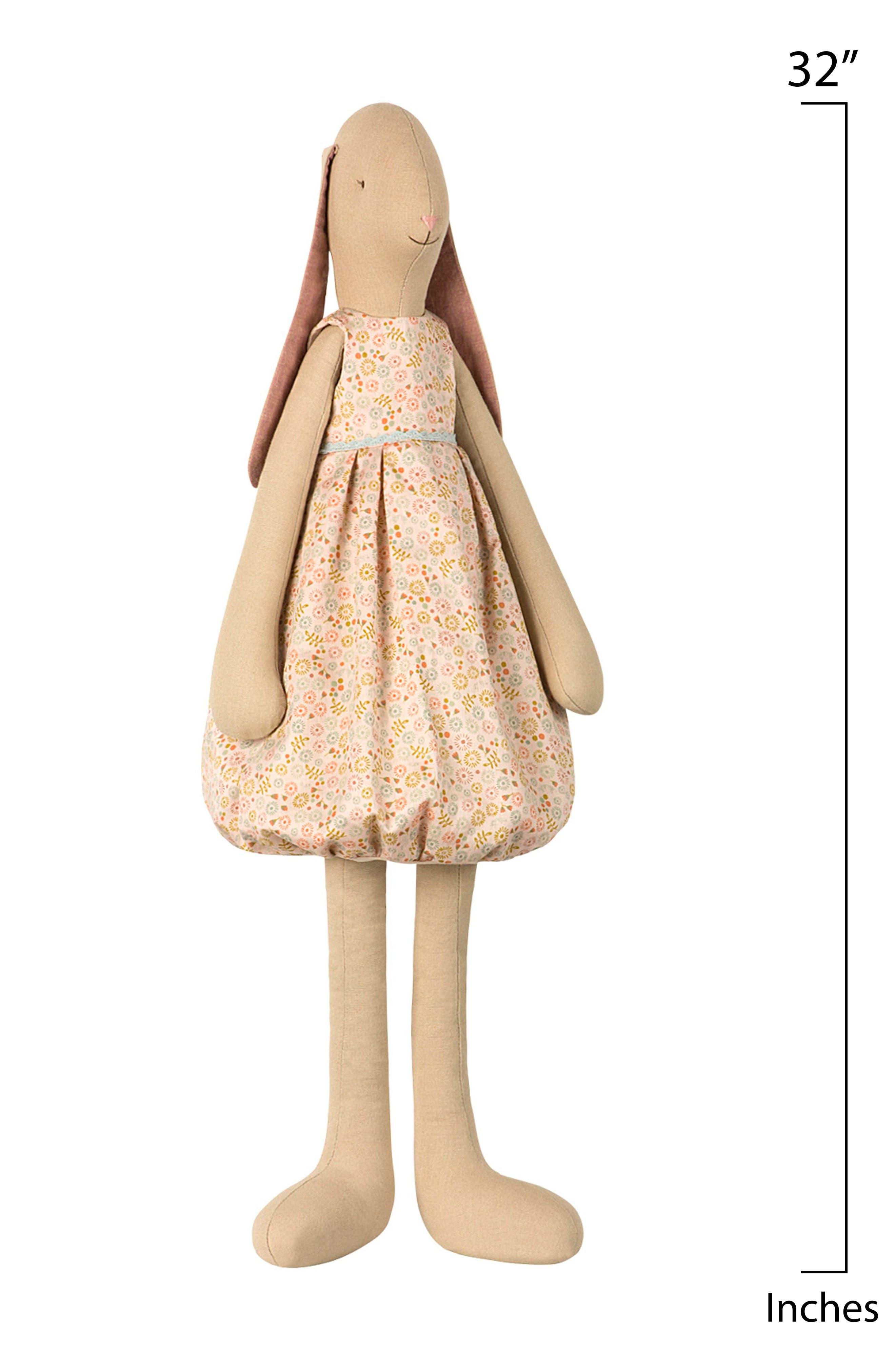 Daisy Mega Vanilla Bunny Stuffed Animal,                             Alternate thumbnail 2, color,                             PEACHE FLORAL DRESS