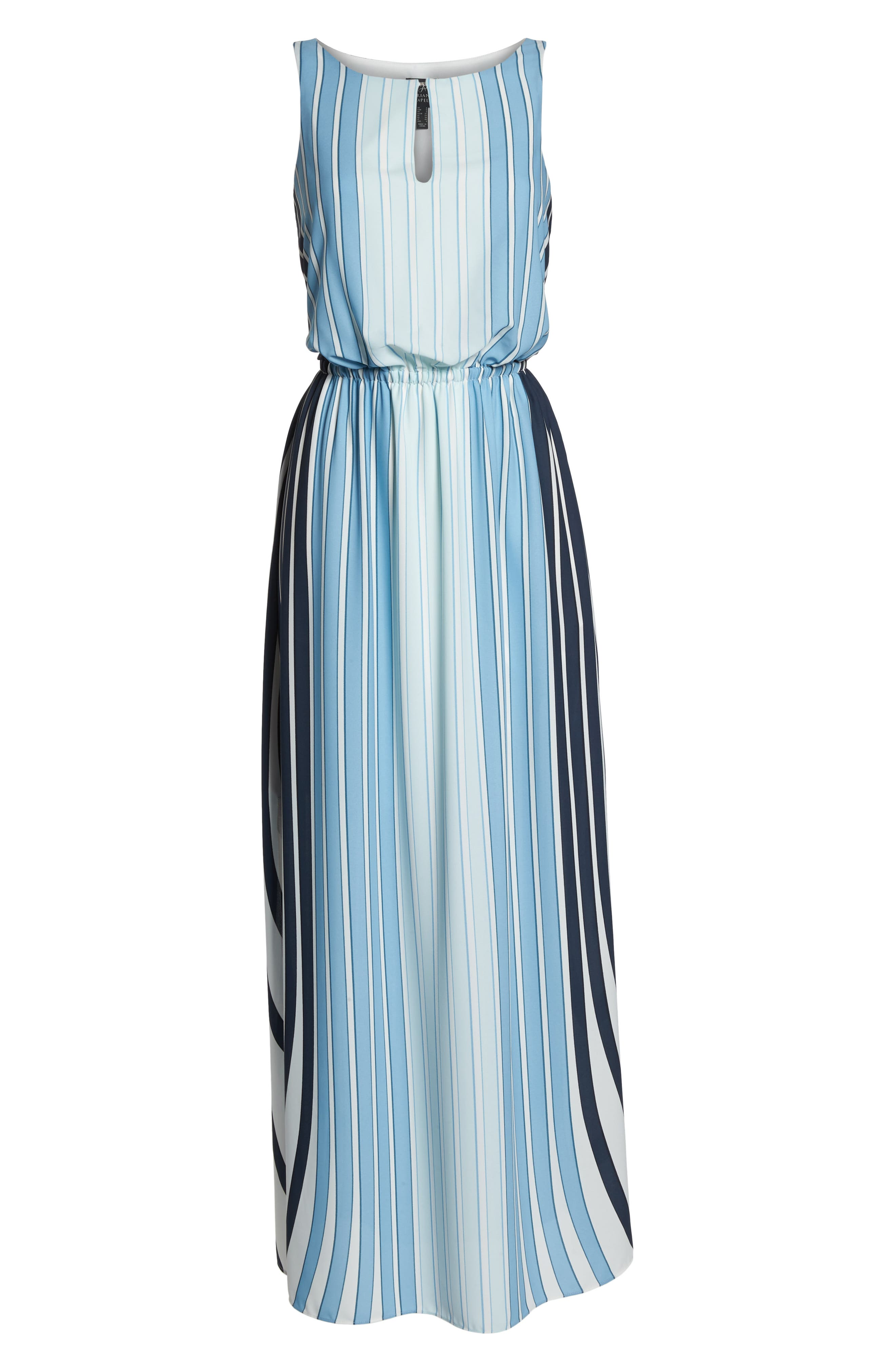 Stripe Maxi Dress,                             Alternate thumbnail 7, color,                             487