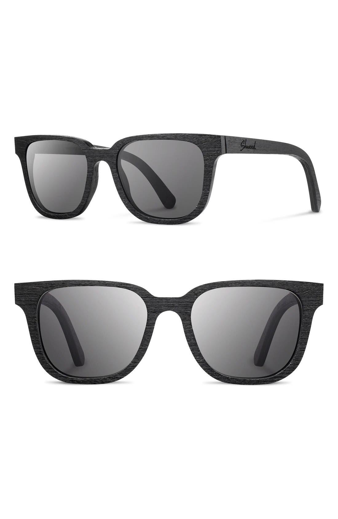 'Prescott' 52mm Wood Sunglasses,                         Main,                         color, 001