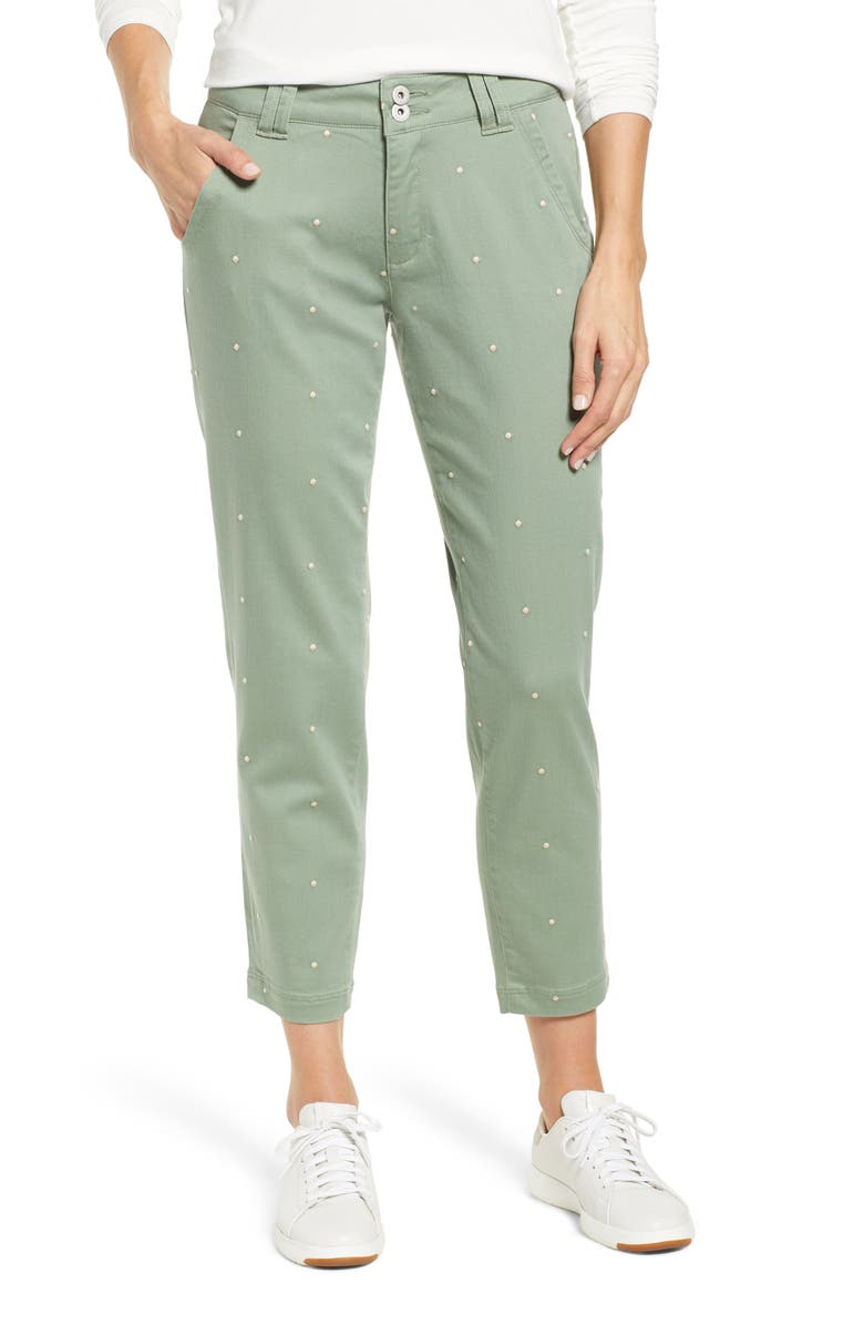 0fb06051ff5 Jag Jeans Flora Polka Dot Crop Pants (Regular   Petite)