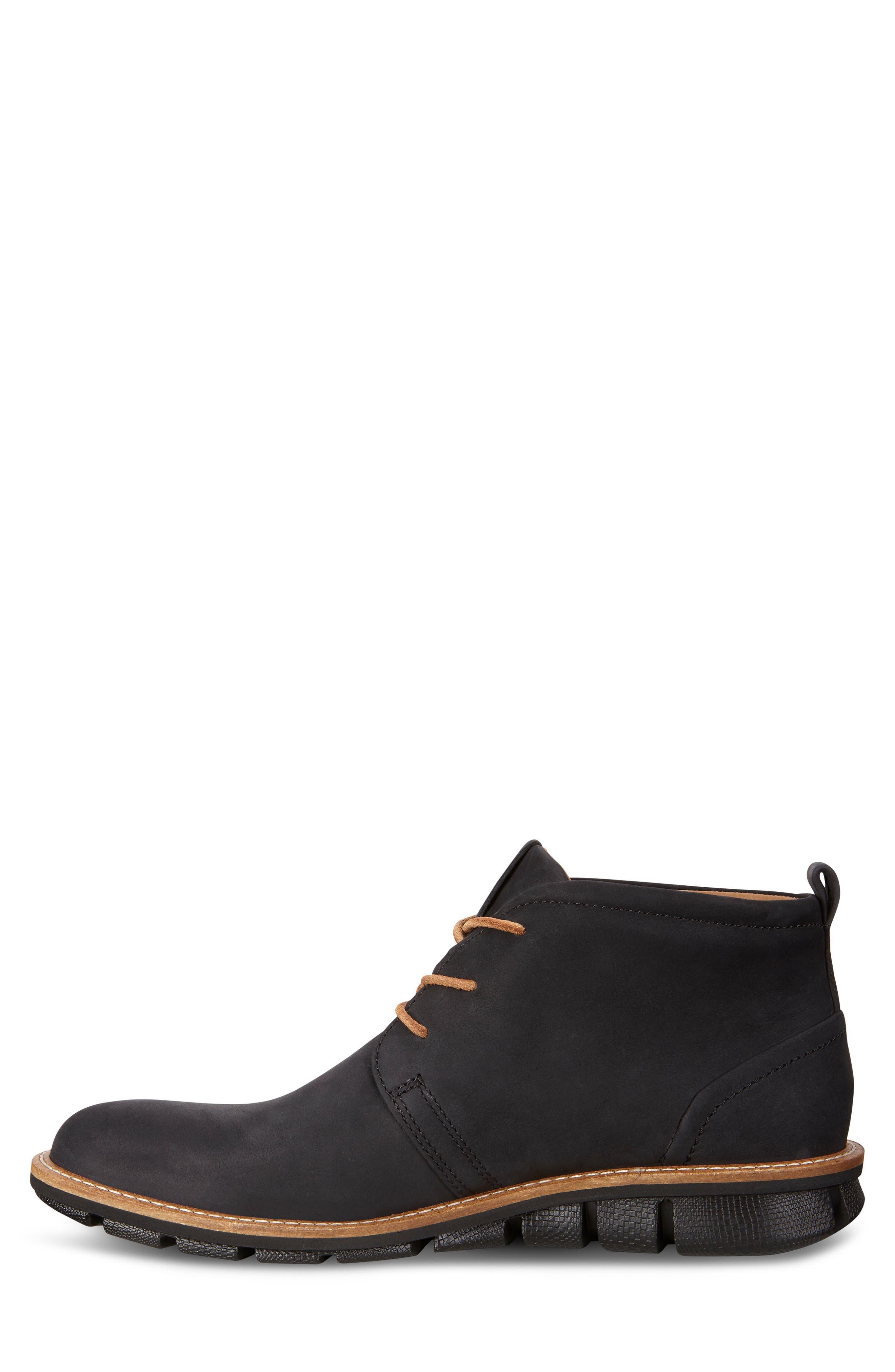 'Jeremy Hybrid' Plain Toe Boot,                             Alternate thumbnail 8, color,                             BLACK LEATHER