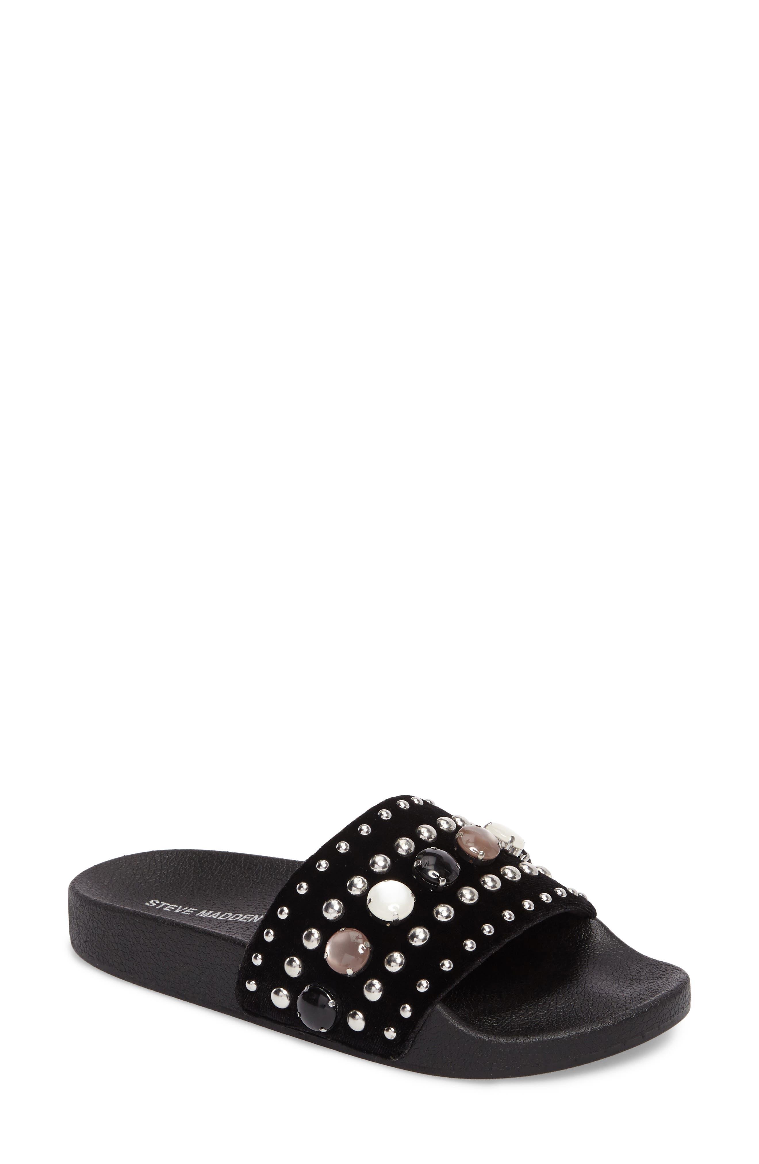 Studded Slide Sandal,                         Main,                         color, 015
