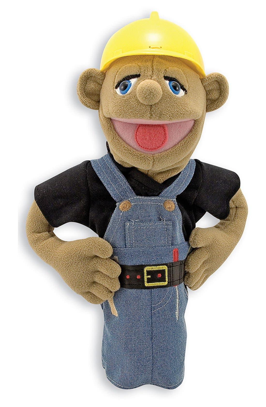 Construction Worker Puppet,                         Main,                         color, BROWN