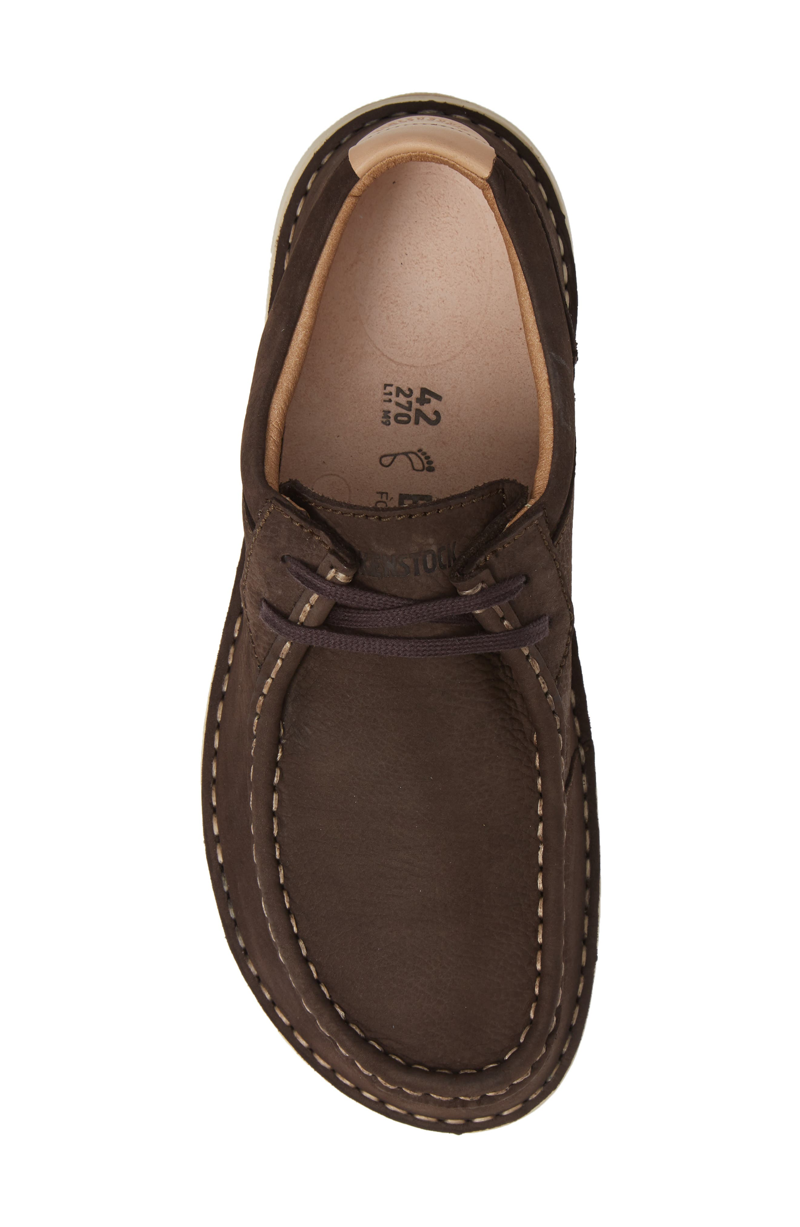 'Pasadena' Lace-Up Moccasin,                             Alternate thumbnail 5, color,                             BROWN