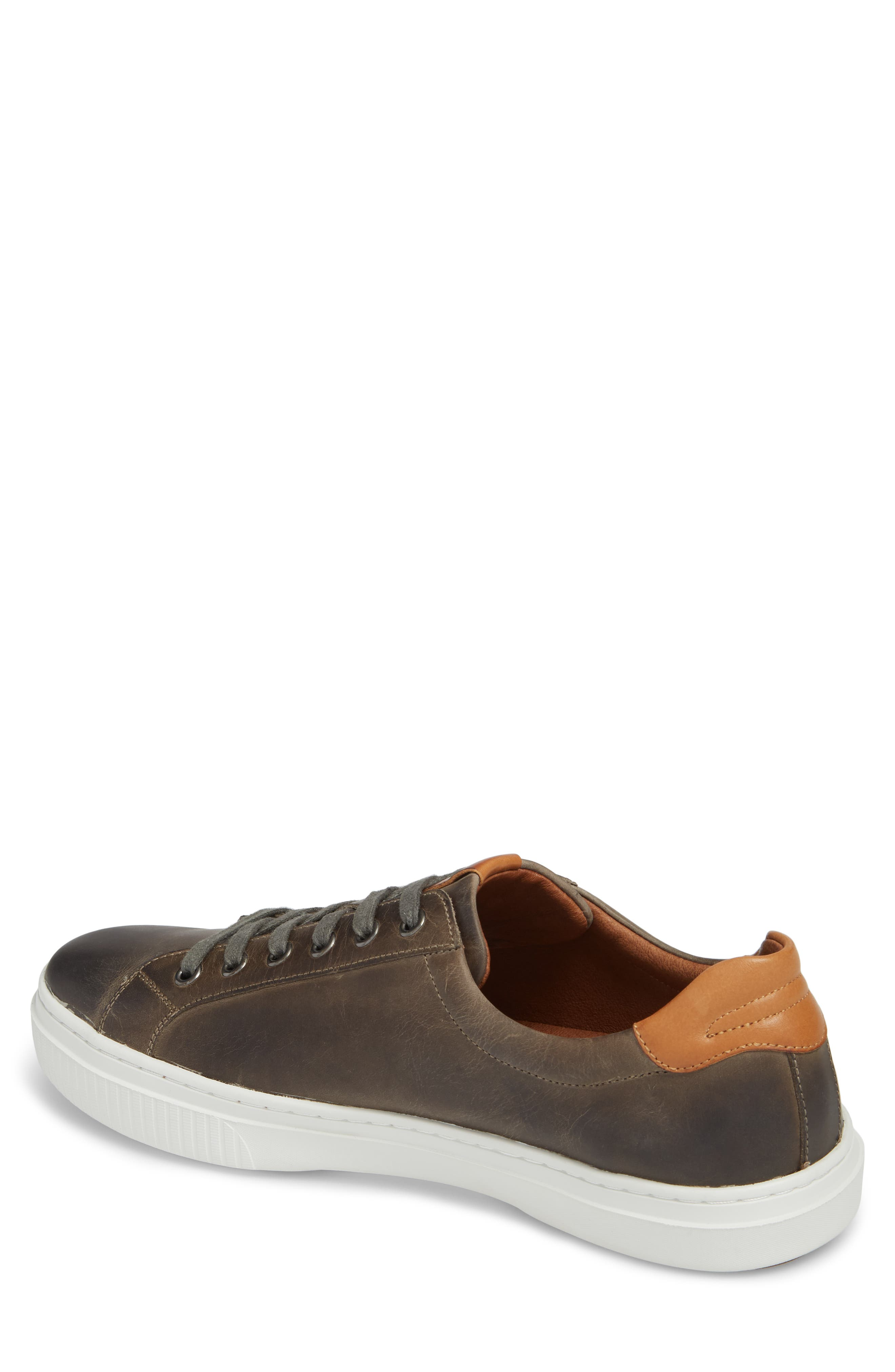 Toliver Low Top Sneaker,                             Alternate thumbnail 2, color,                             GREY LEATHER