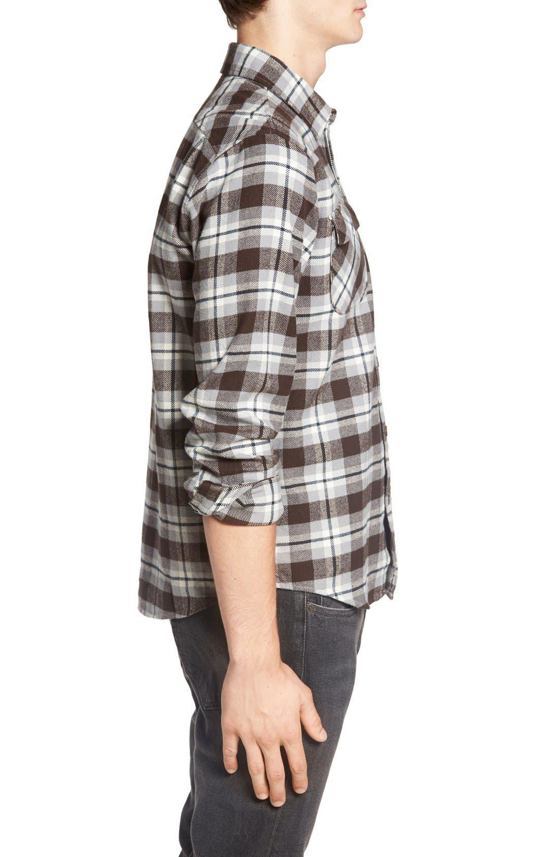 'That'll Work' Trim Fit Plaid Flannel Shirt,                             Alternate thumbnail 34, color,
