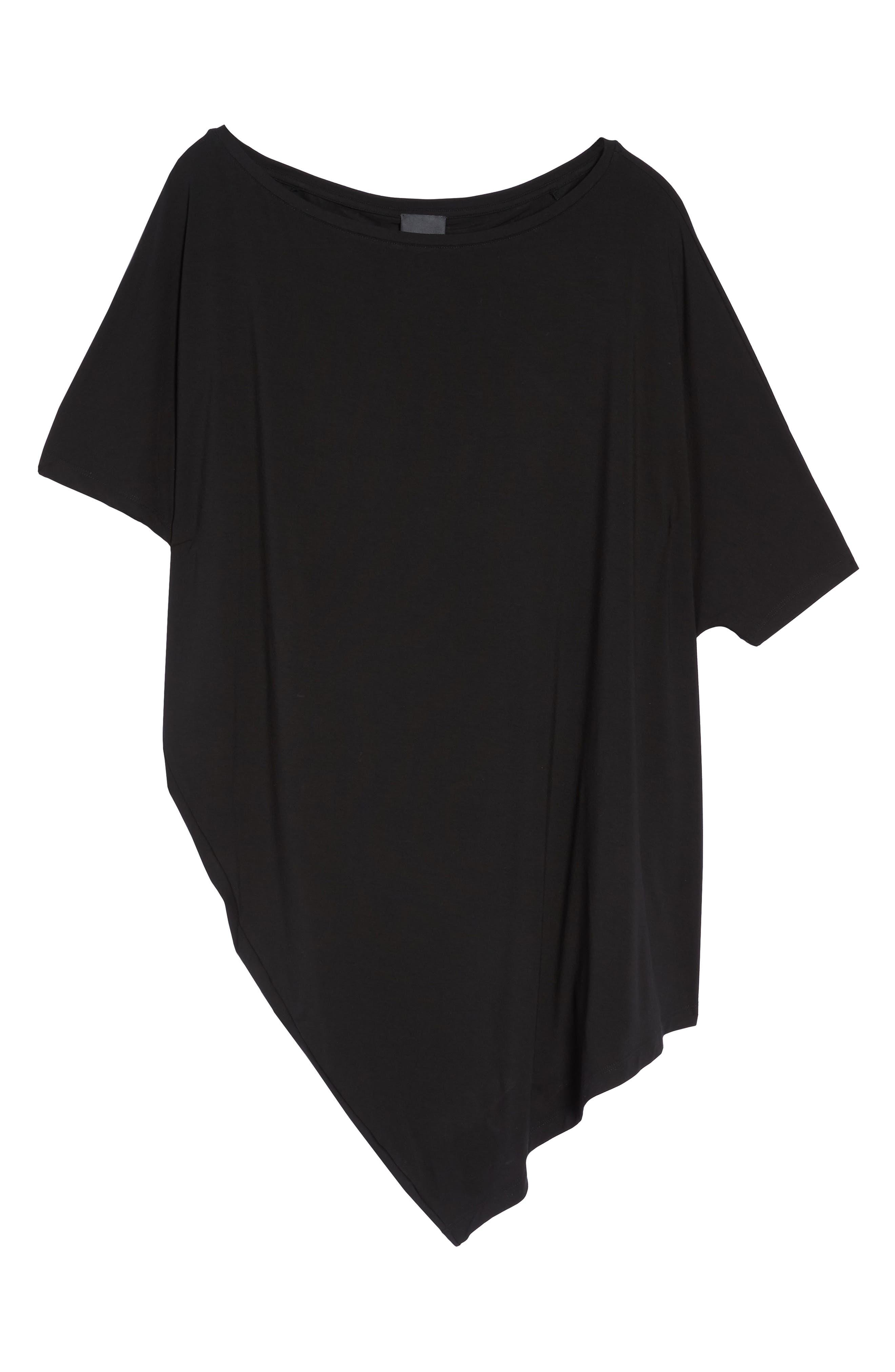 Asymmetrical Tunic Top,                             Alternate thumbnail 7, color,                             001